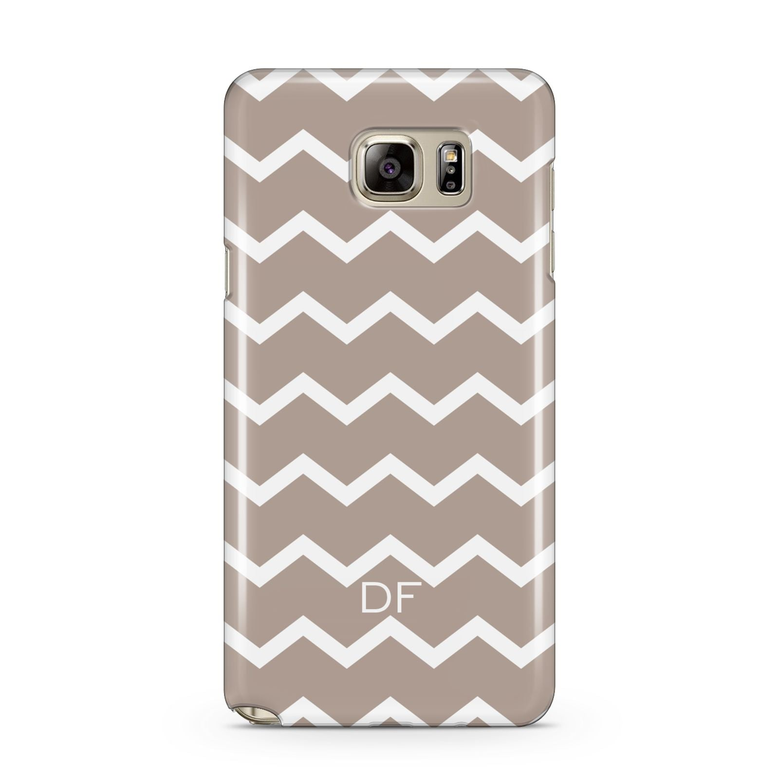 Personalised Chevron Beige Samsung Galaxy Note 5 Case