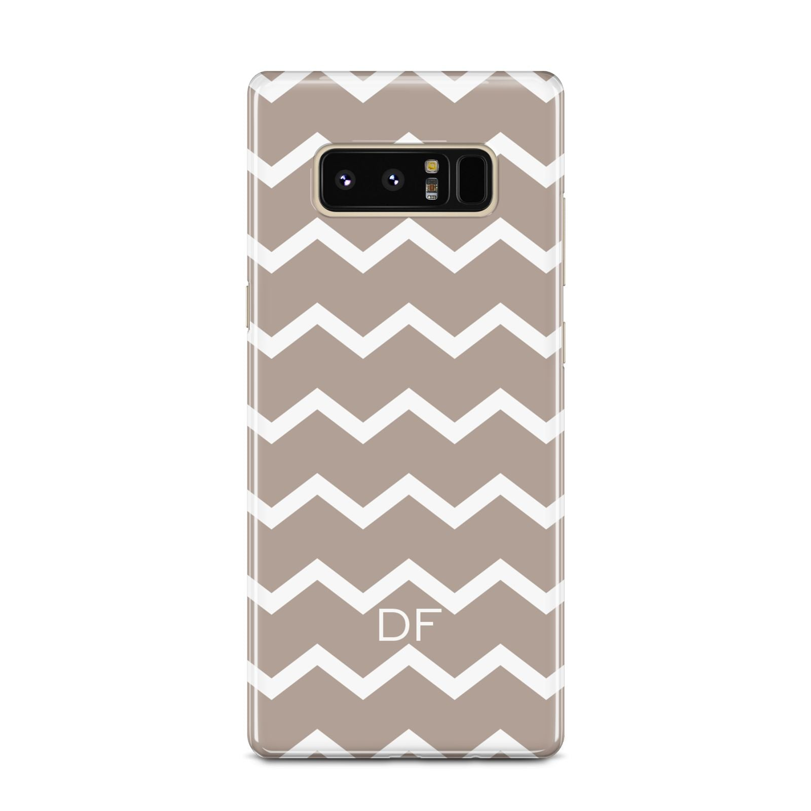 Personalised Chevron Beige Samsung Galaxy Note 8 Case