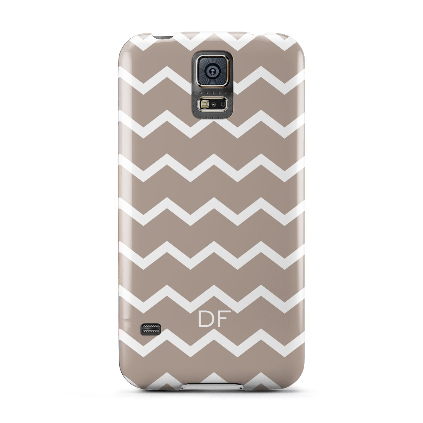 Personalised Chevron Beige Samsung Galaxy S5 Case