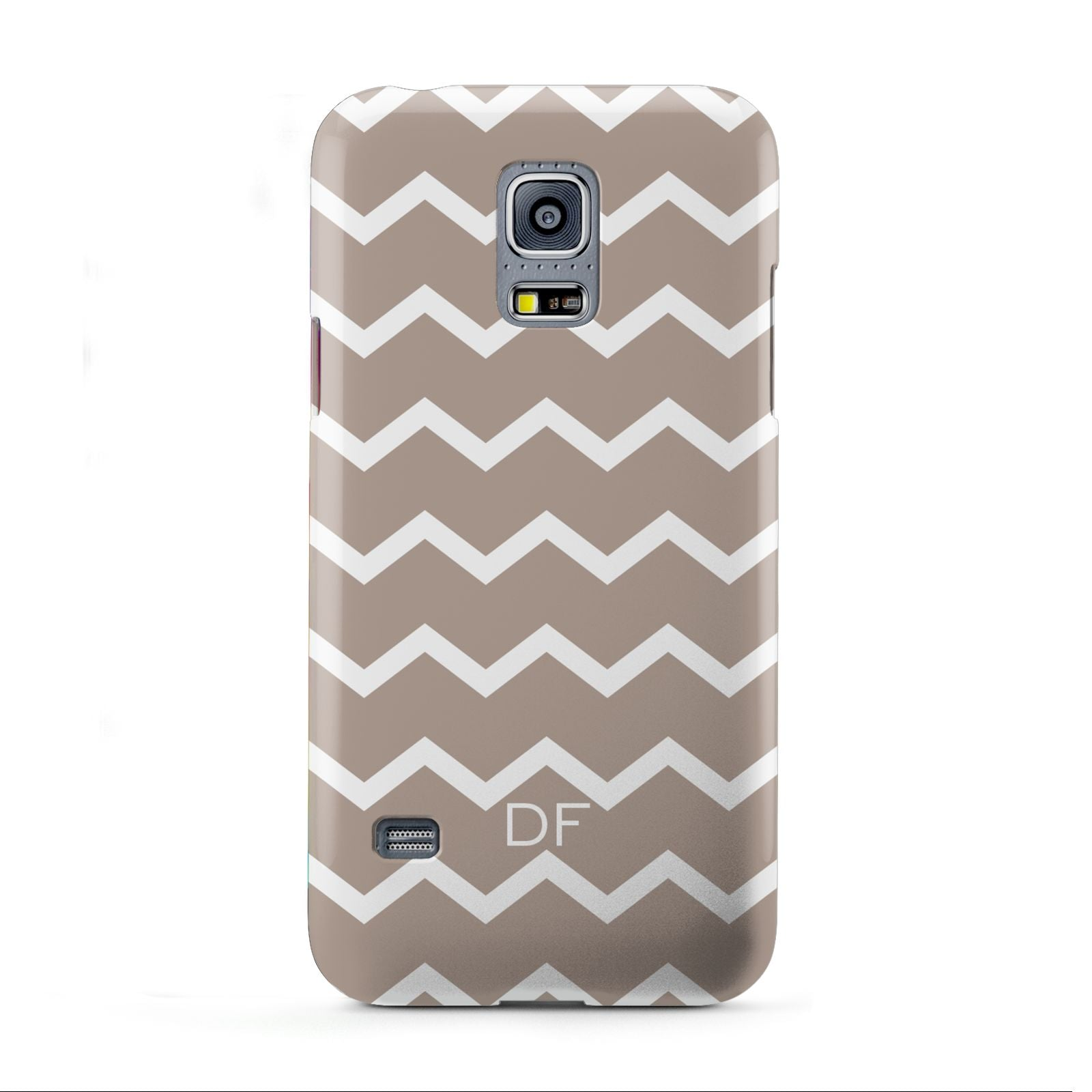 Personalised Chevron Beige Samsung Galaxy S5 Mini Case