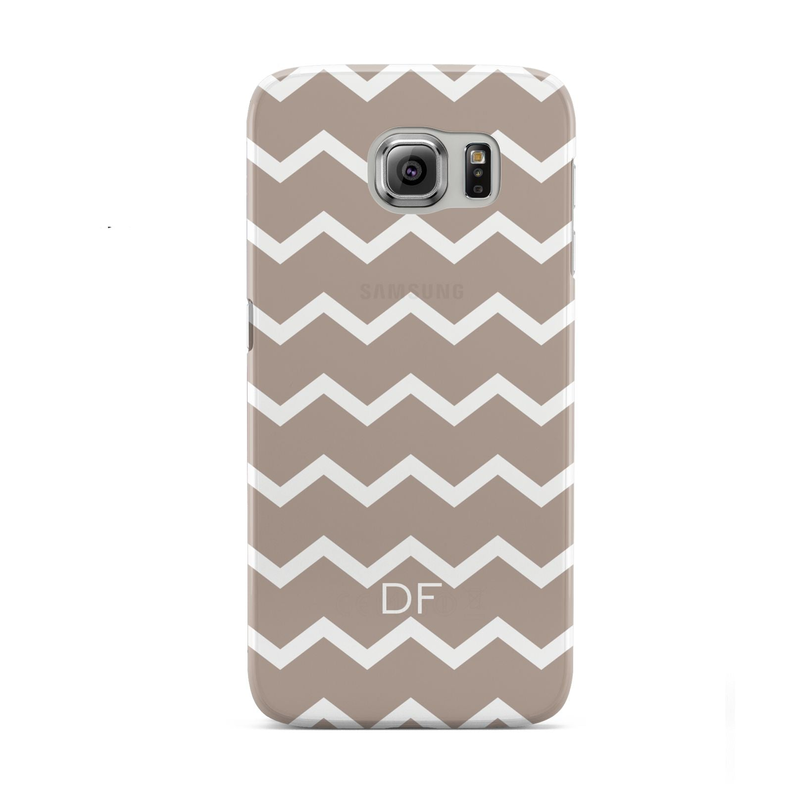 Personalised Chevron Beige Samsung Galaxy S6 Case
