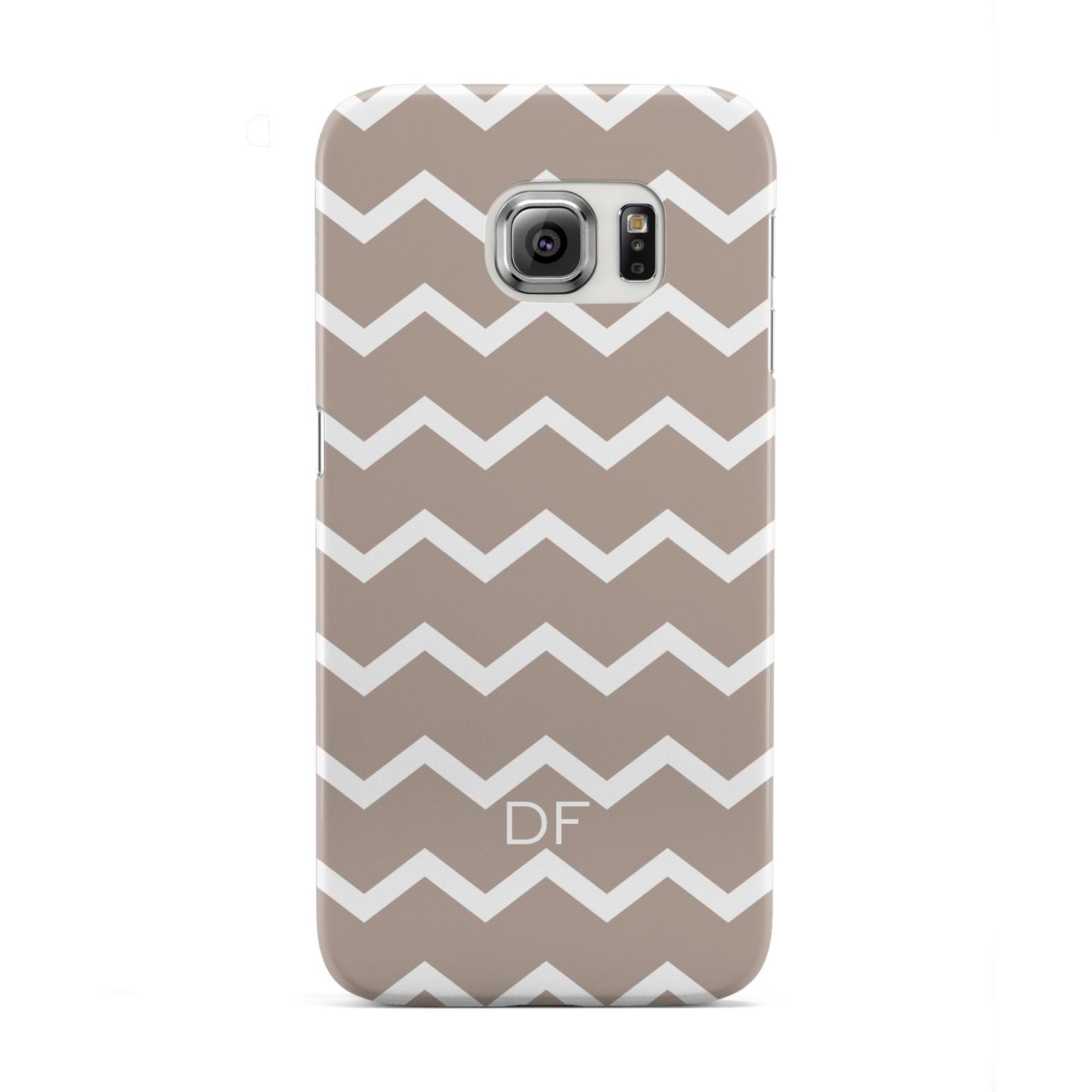 Personalised Chevron Beige Samsung Galaxy S6 Edge Case