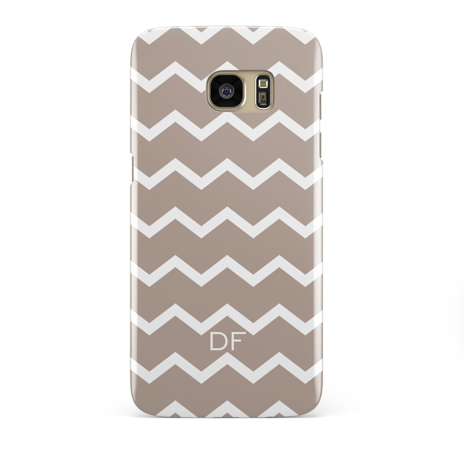 Personalised Chevron Beige Samsung Galaxy S7 Edge Case