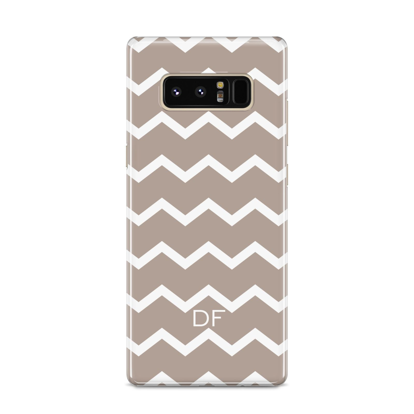Personalised Chevron Beige Samsung Galaxy S8 Case