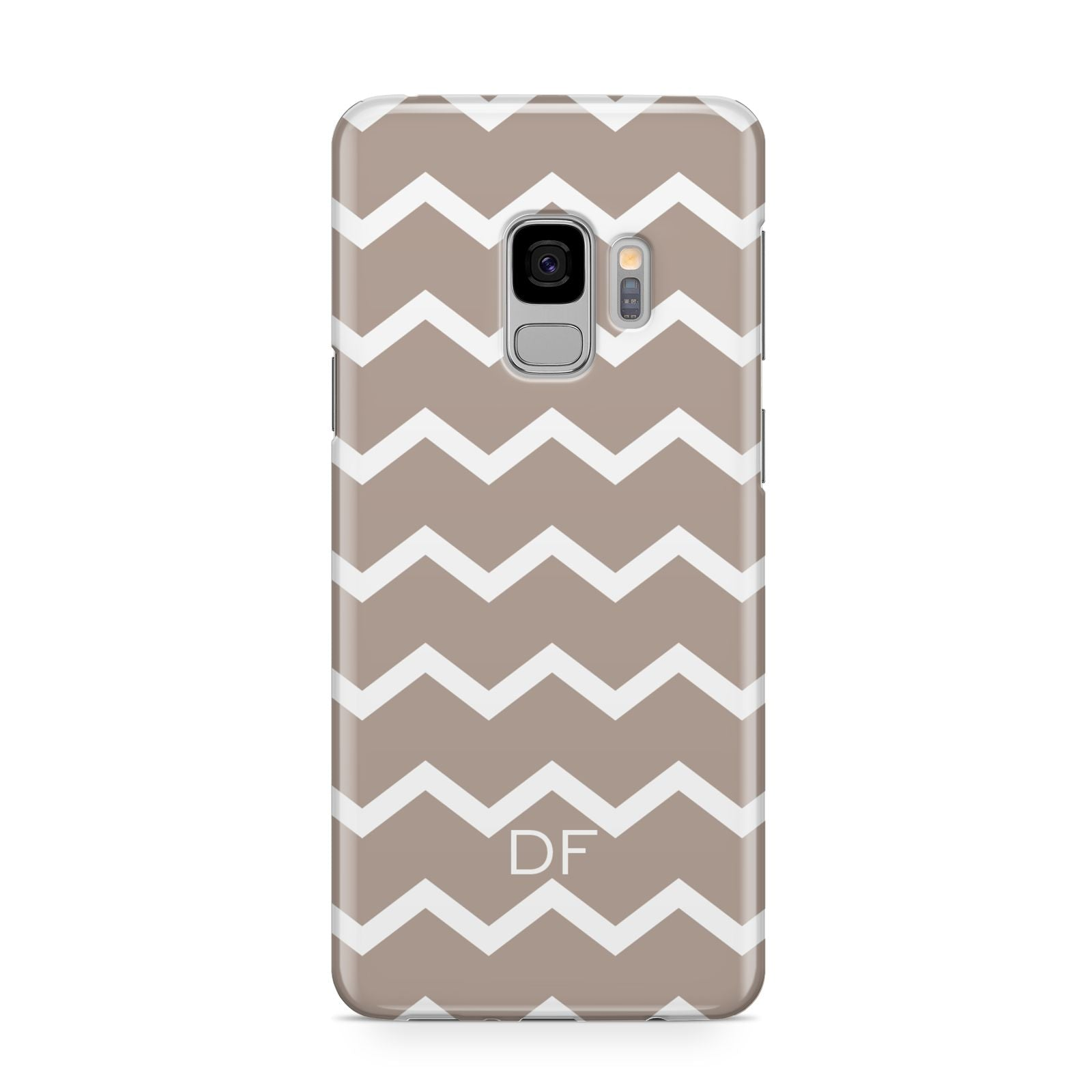 Personalised Chevron Beige Samsung Galaxy S9 Case