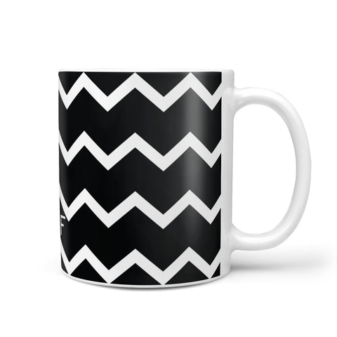 Personalised Chevron Black Mug