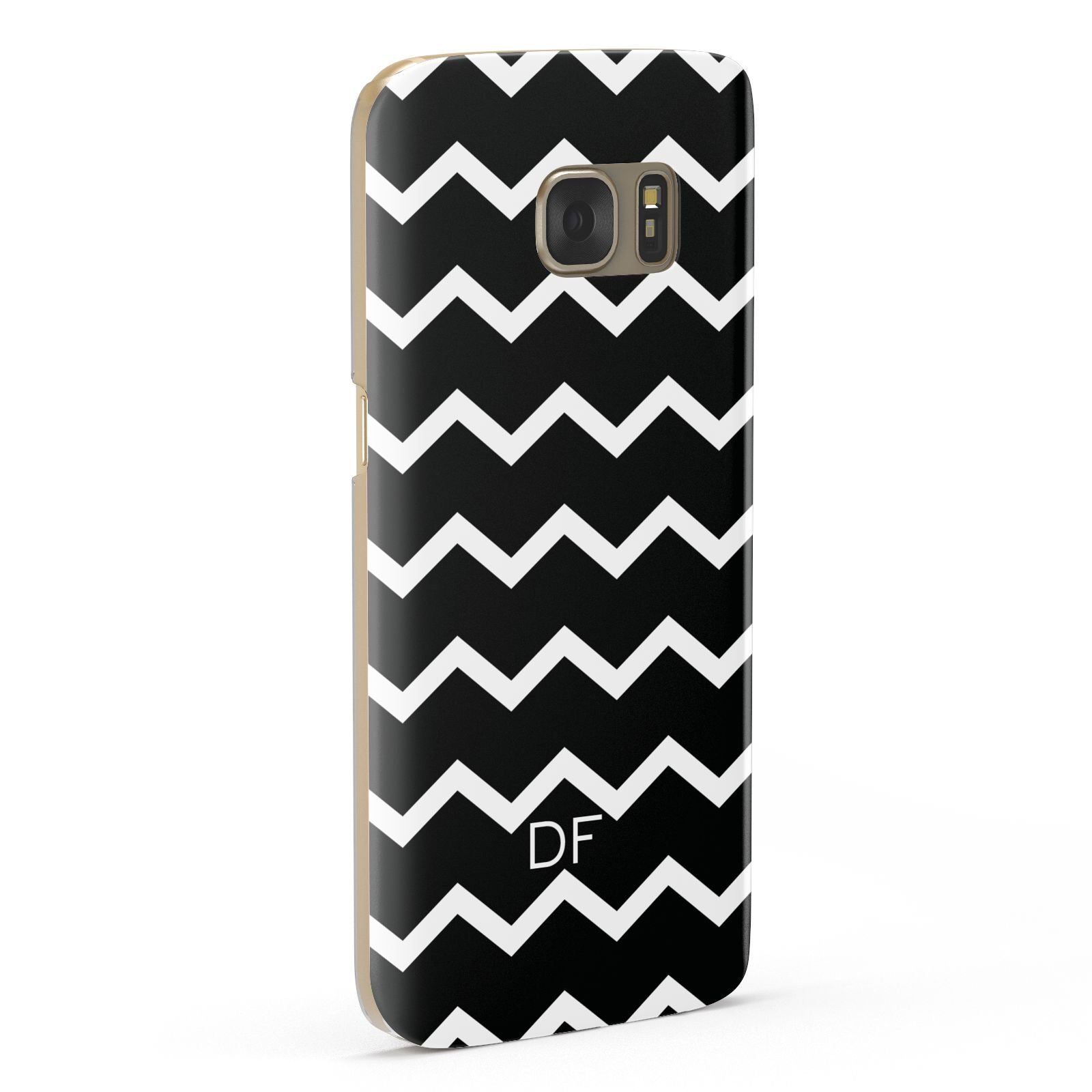 Personalised Chevron Black Samsung Galaxy Case Fourty Five Degrees
