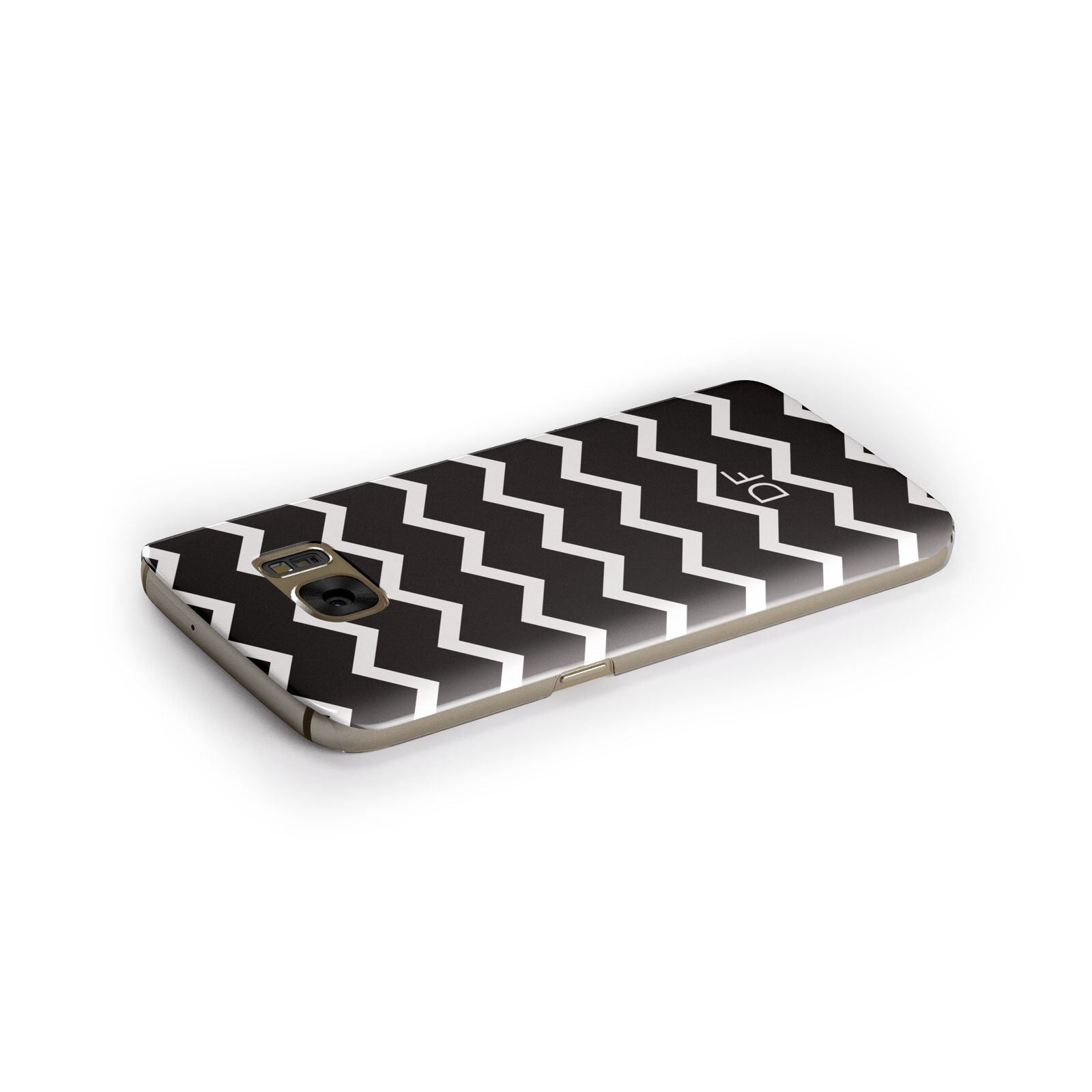 Personalised Chevron Black Samsung Galaxy Case Side Close Up