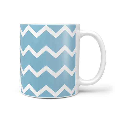 Personalised Chevron Blue Mug