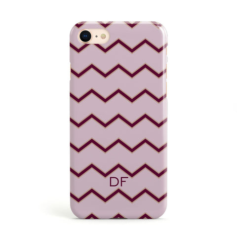 Personalised Chevron Burgundy Apple iPhone Case