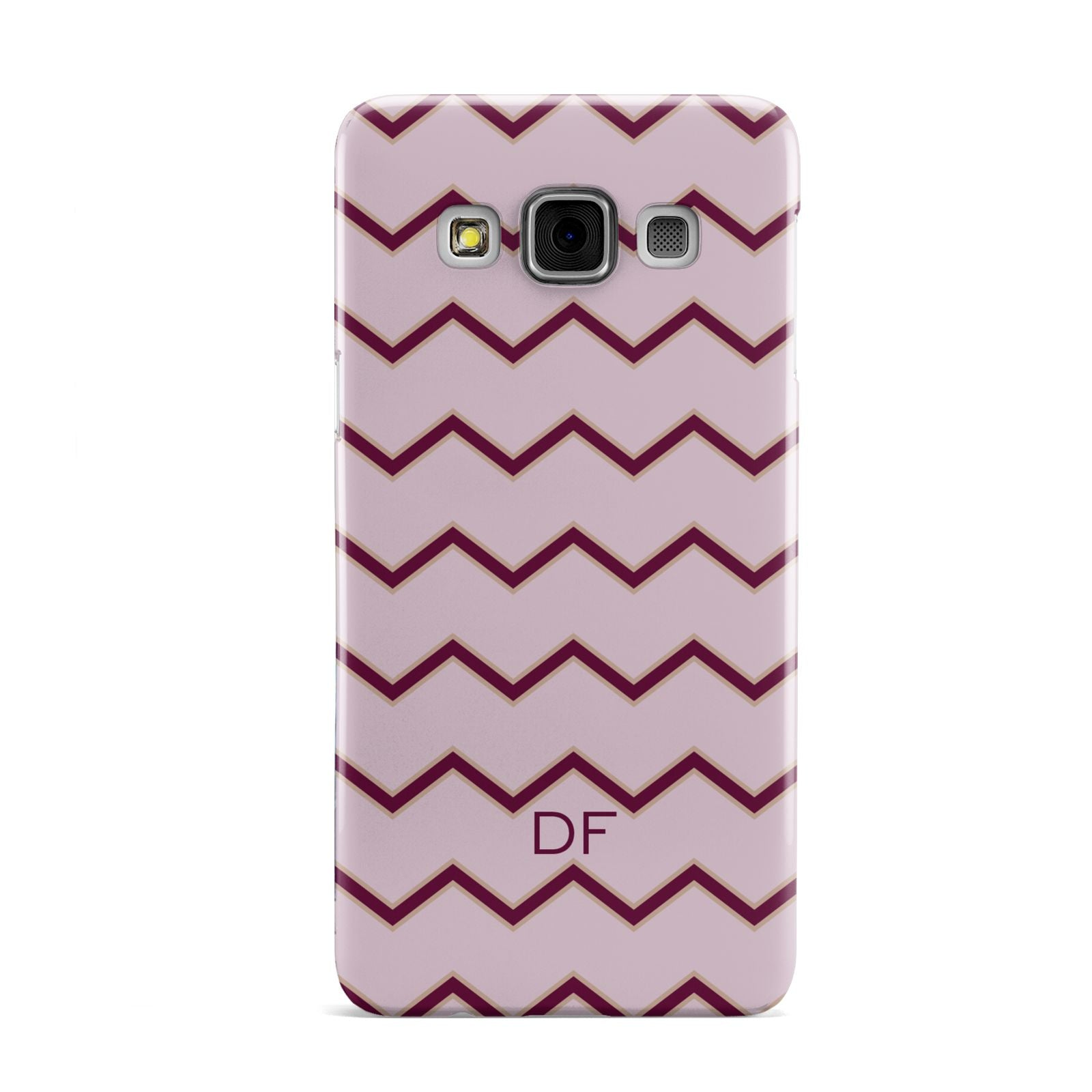 Personalised Chevron Burgundy Samsung Galaxy A3 Case