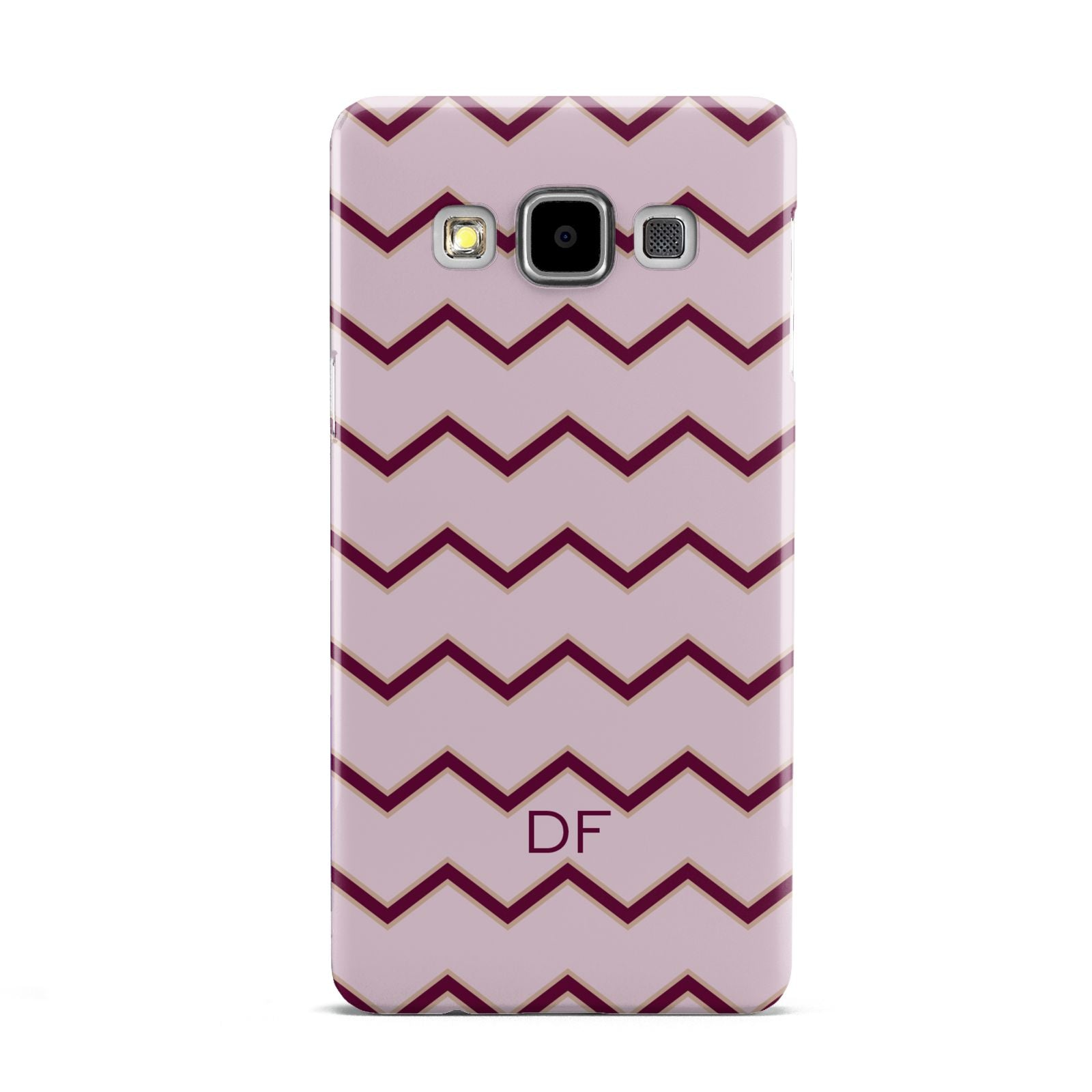 Personalised Chevron Burgundy Samsung Galaxy A5 Case