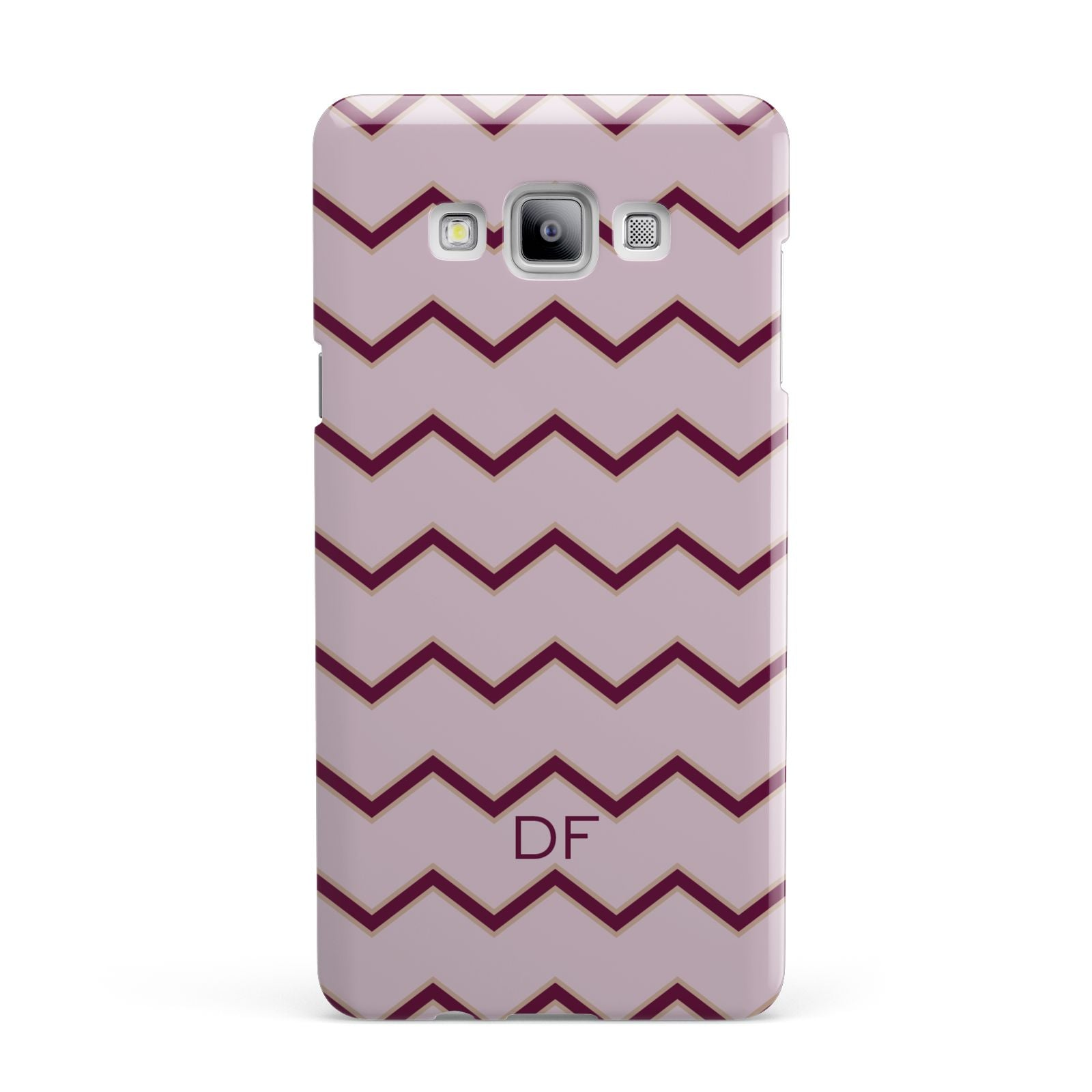 Personalised Chevron Burgundy Samsung Galaxy A7 2015 Case