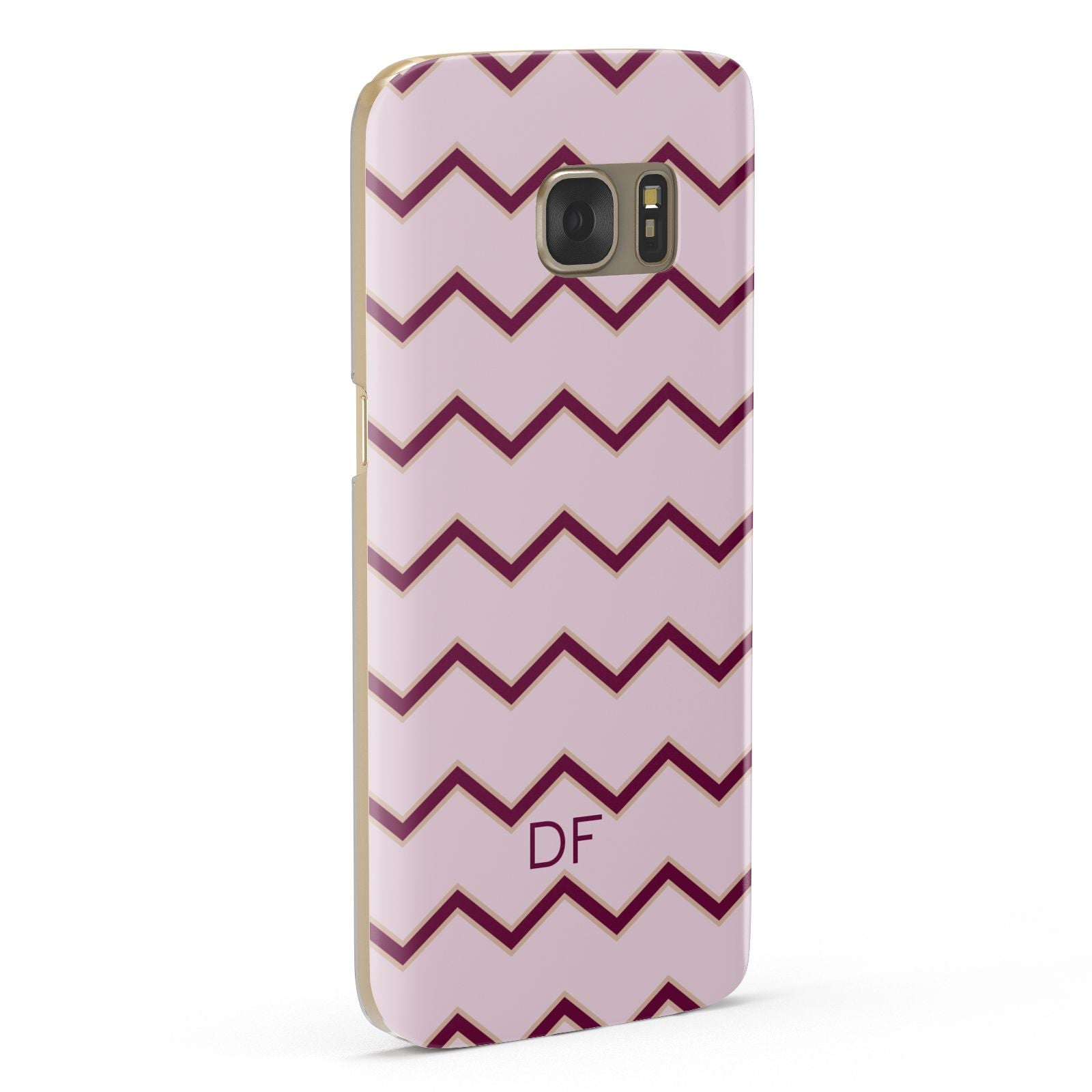 Personalised Chevron Burgundy Samsung Galaxy Case Fourty Five Degrees