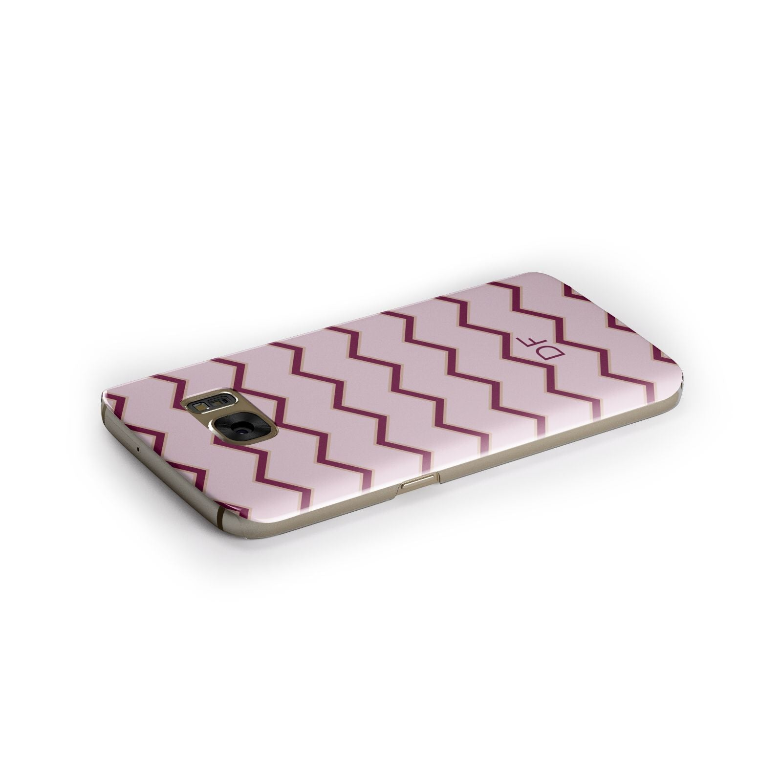Personalised Chevron Burgundy Samsung Galaxy Case Side Close Up