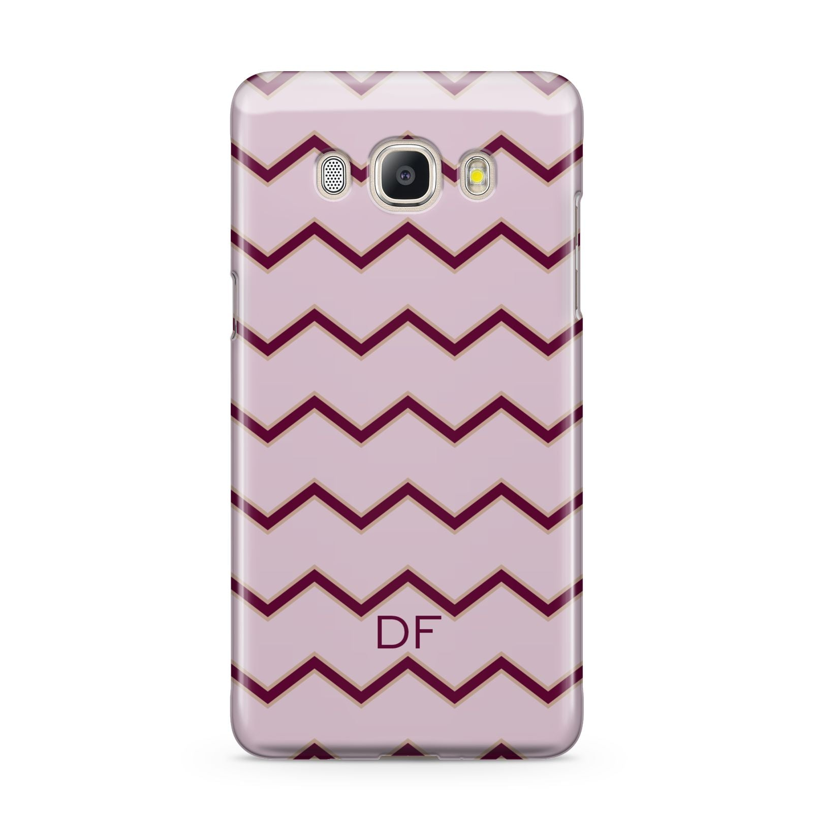 Personalised Chevron Burgundy Samsung Galaxy J5 2016 Case
