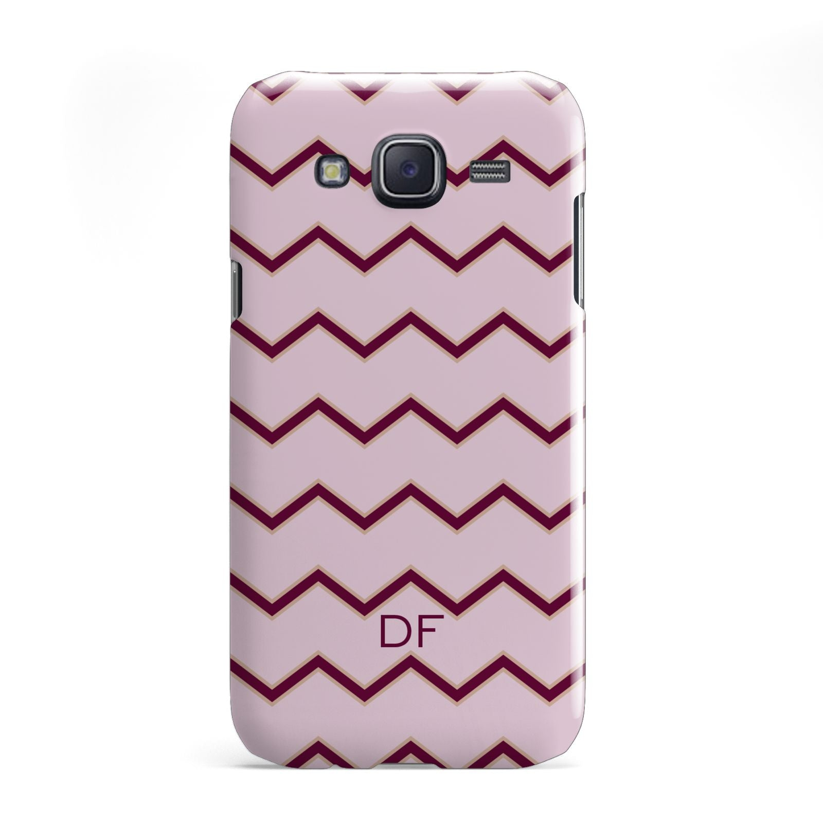 Personalised Chevron Burgundy Samsung Galaxy J5 Case