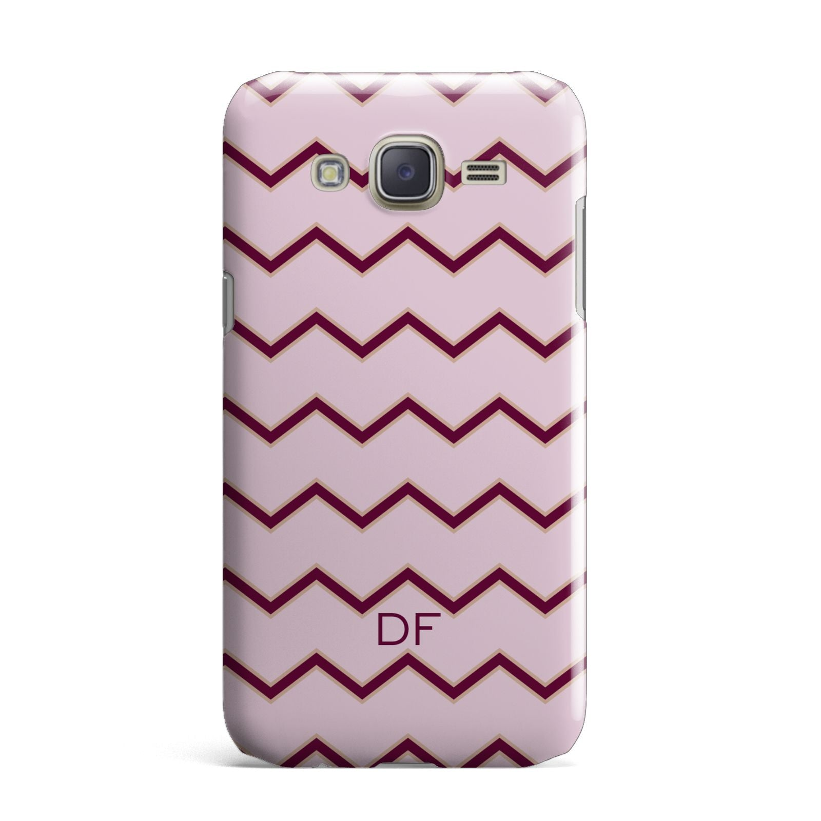 Personalised Chevron Burgundy Samsung Galaxy J7 Case