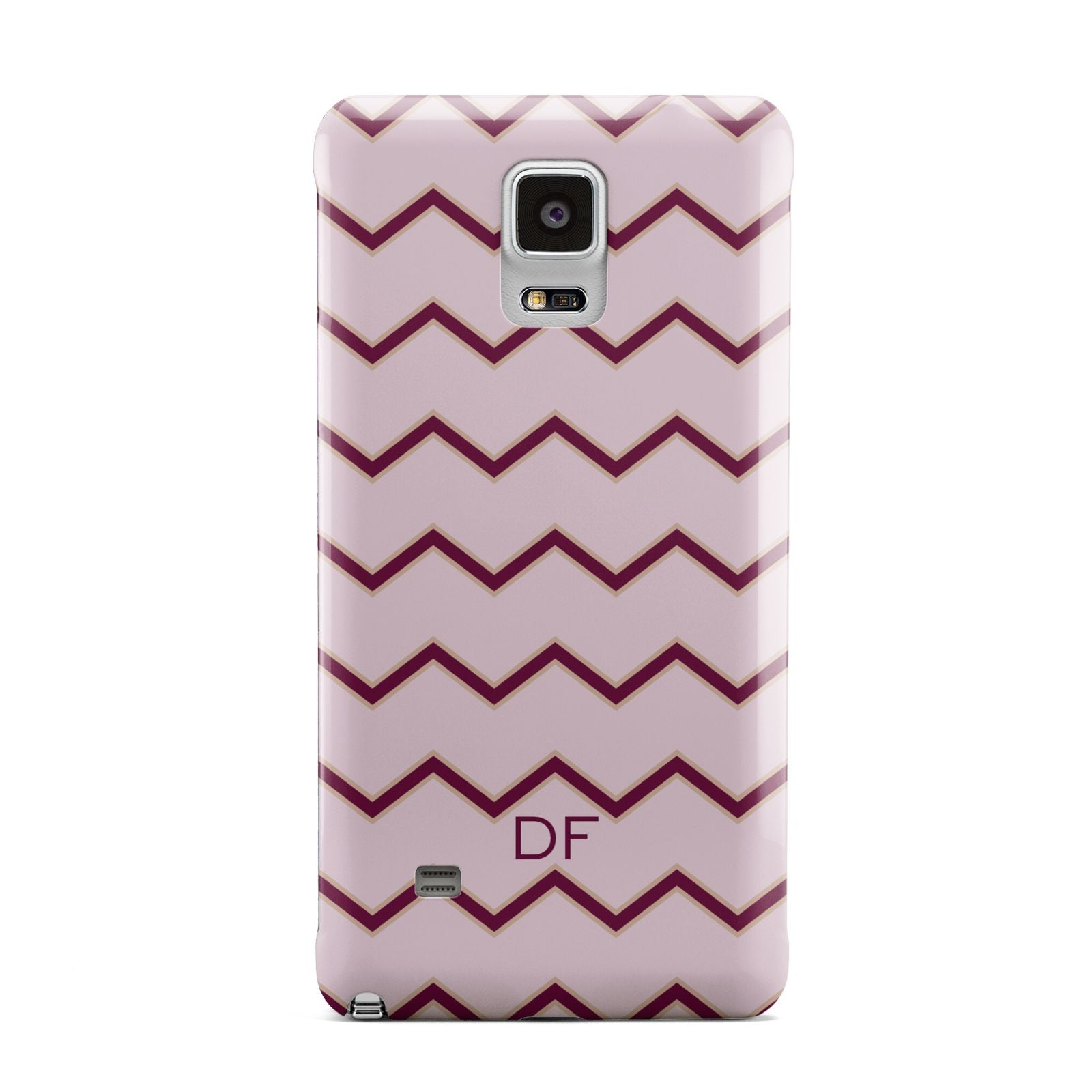 Personalised Chevron Burgundy Samsung Galaxy Note 4 Case