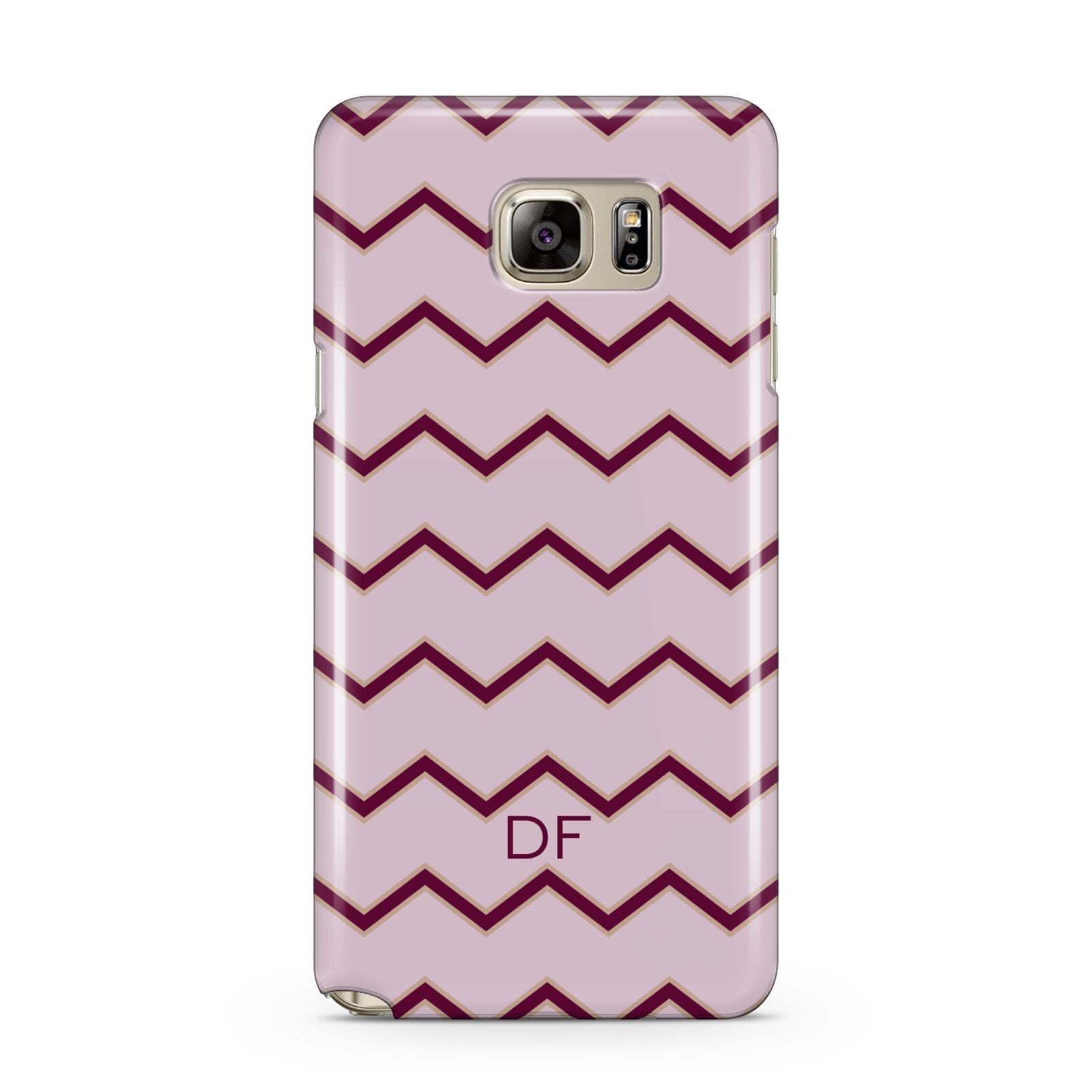 Personalised Chevron Burgundy Samsung Galaxy Note 5 Case
