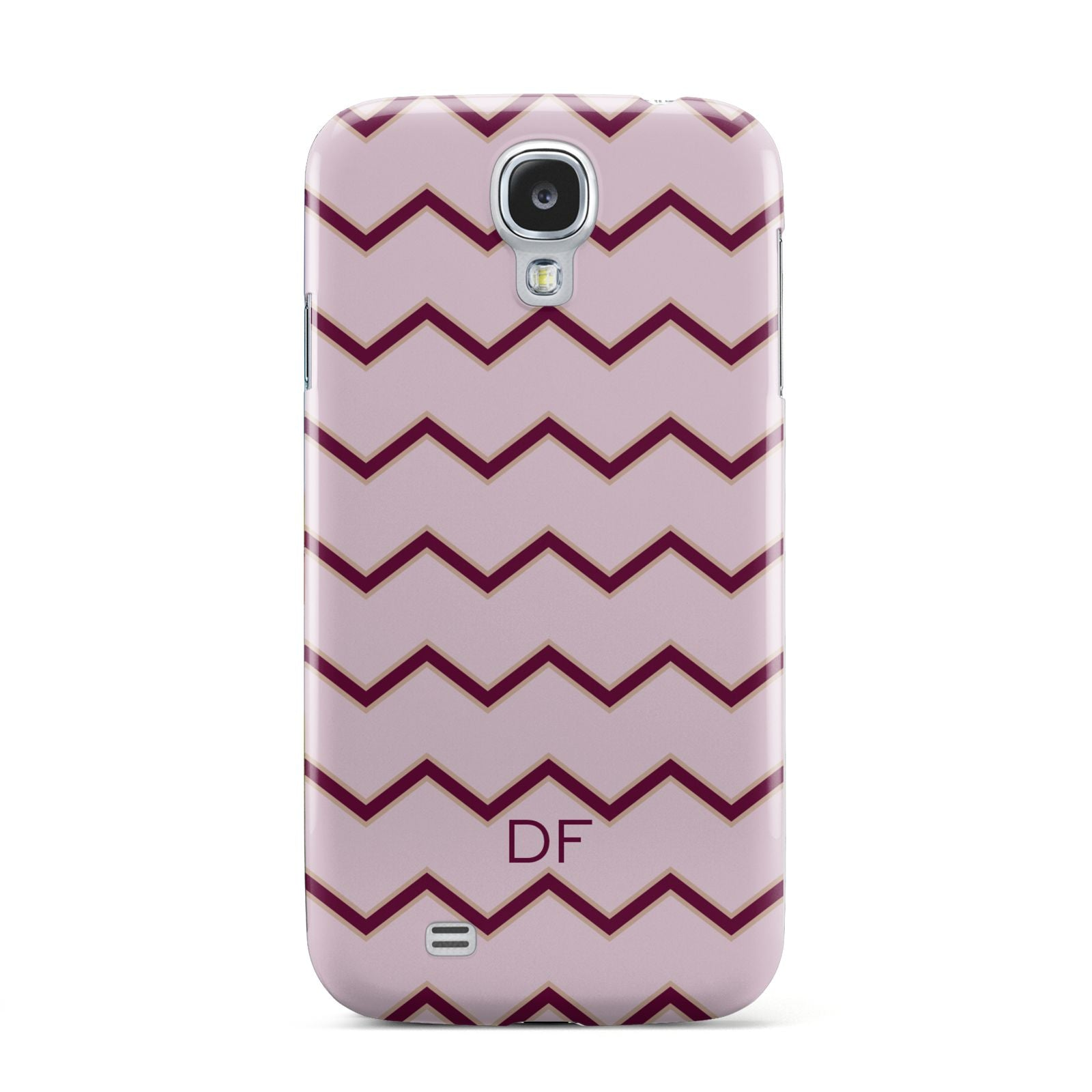 Personalised Chevron Burgundy Samsung Galaxy S4 Case