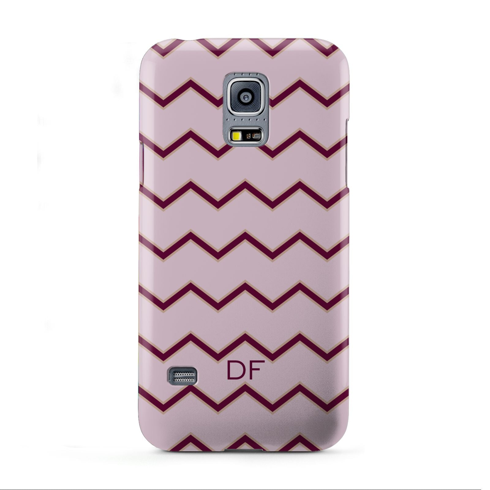 Personalised Chevron Burgundy Samsung Galaxy S5 Mini Case