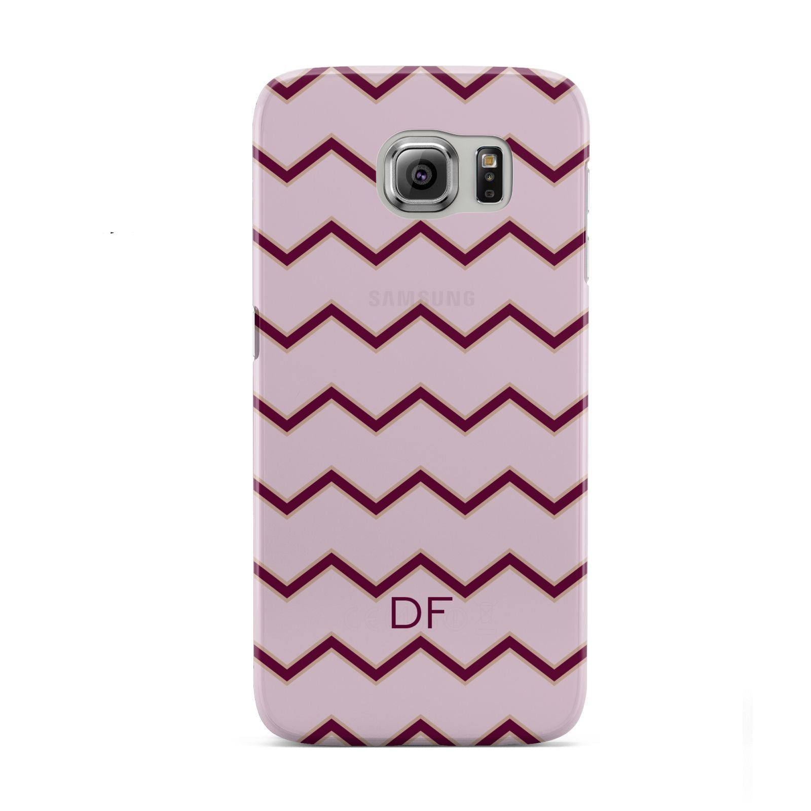 Personalised Chevron Burgundy Samsung Galaxy S6 Case