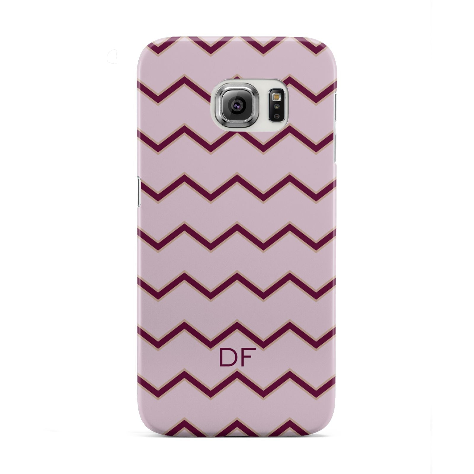 Personalised Chevron Burgundy Samsung Galaxy S6 Edge Case