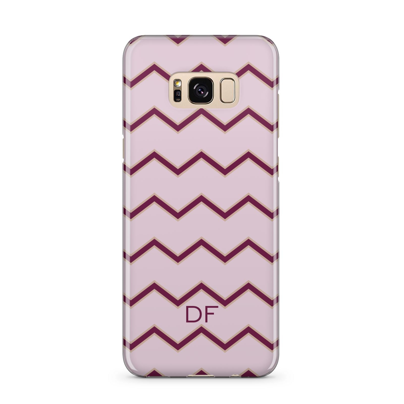 Personalised Chevron Burgundy Samsung Galaxy S8 Plus Case
