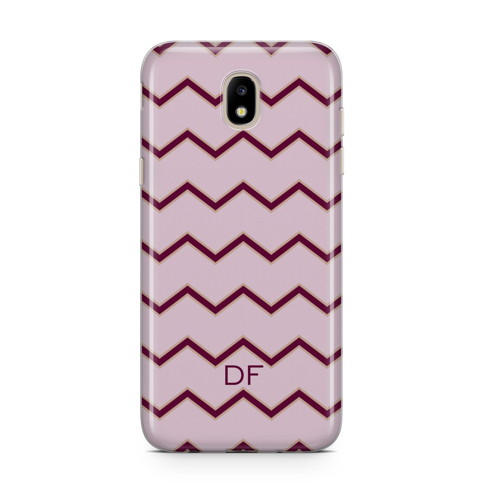 Personalised Chevron Burgundy Samsung J5 2017 Case