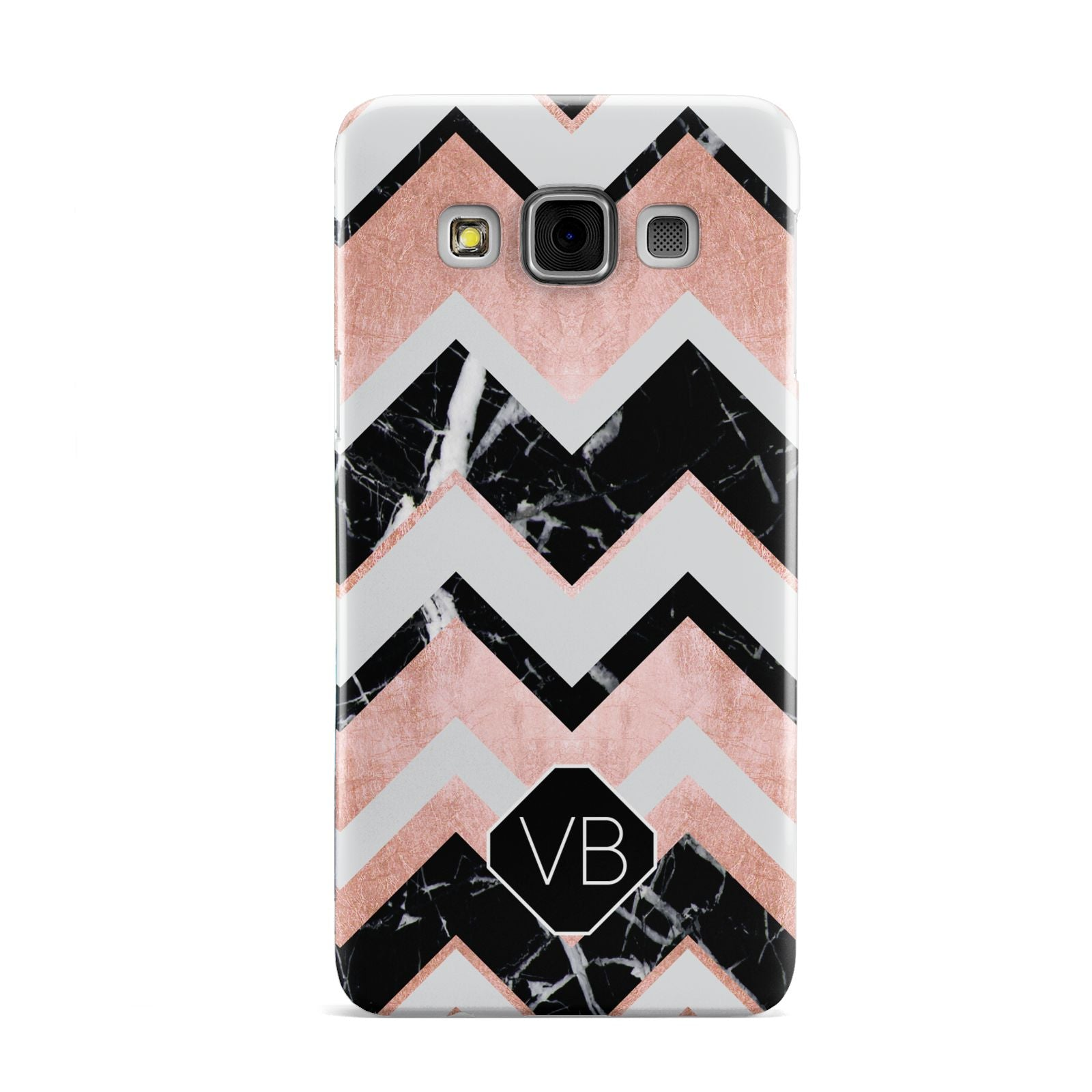 Personalised Chevron Marbled Initials Samsung Galaxy A3 Case