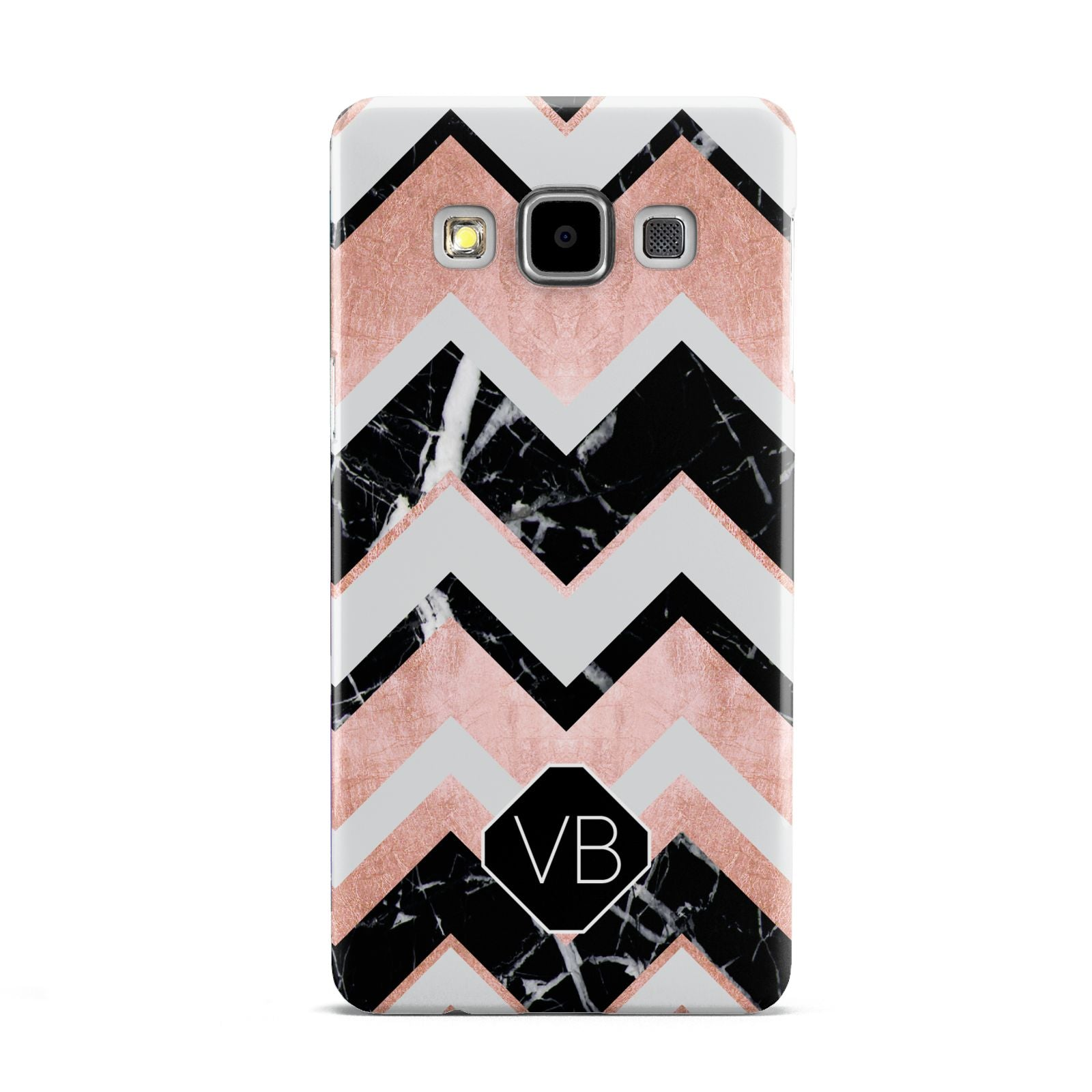 Personalised Chevron Marbled Initials Samsung Galaxy A5 Case