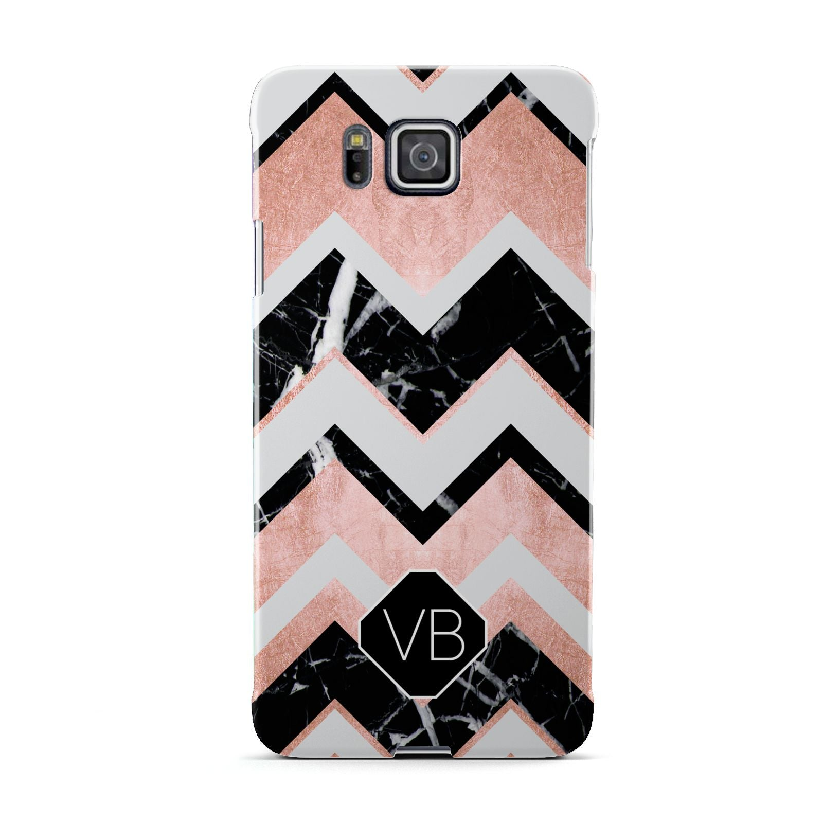 Personalised Chevron Marbled Initials Samsung Galaxy Alpha Case