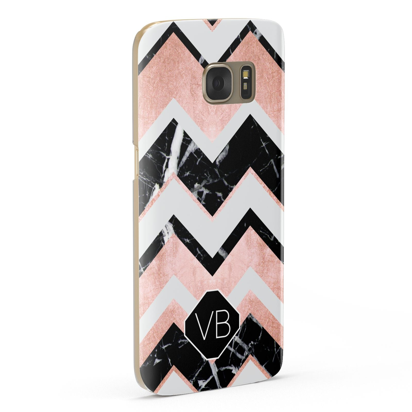 Personalised Chevron Marbled Initials Samsung Galaxy Case Fourty Five Degrees