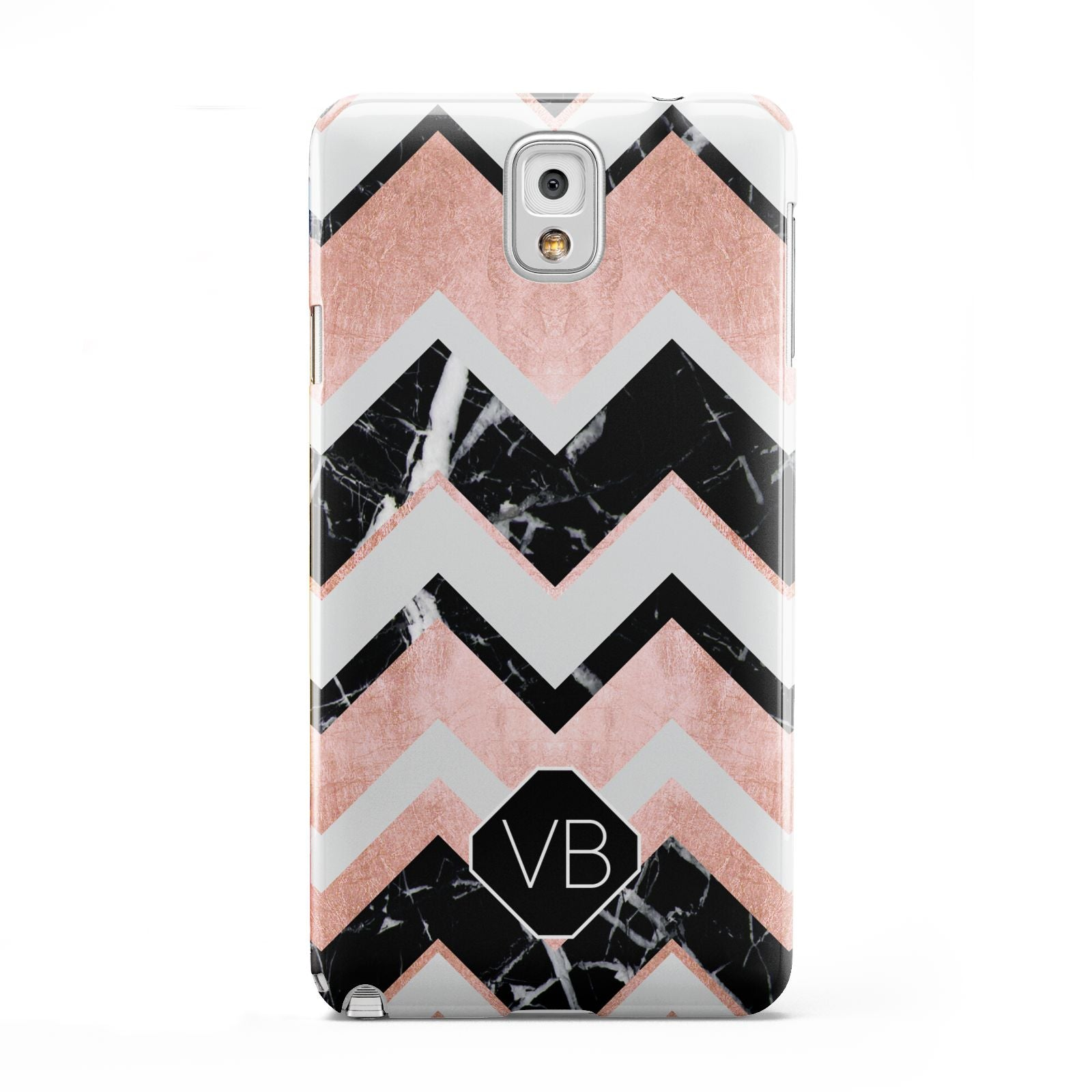 Personalised Chevron Marbled Initials Samsung Galaxy Note 3 Case