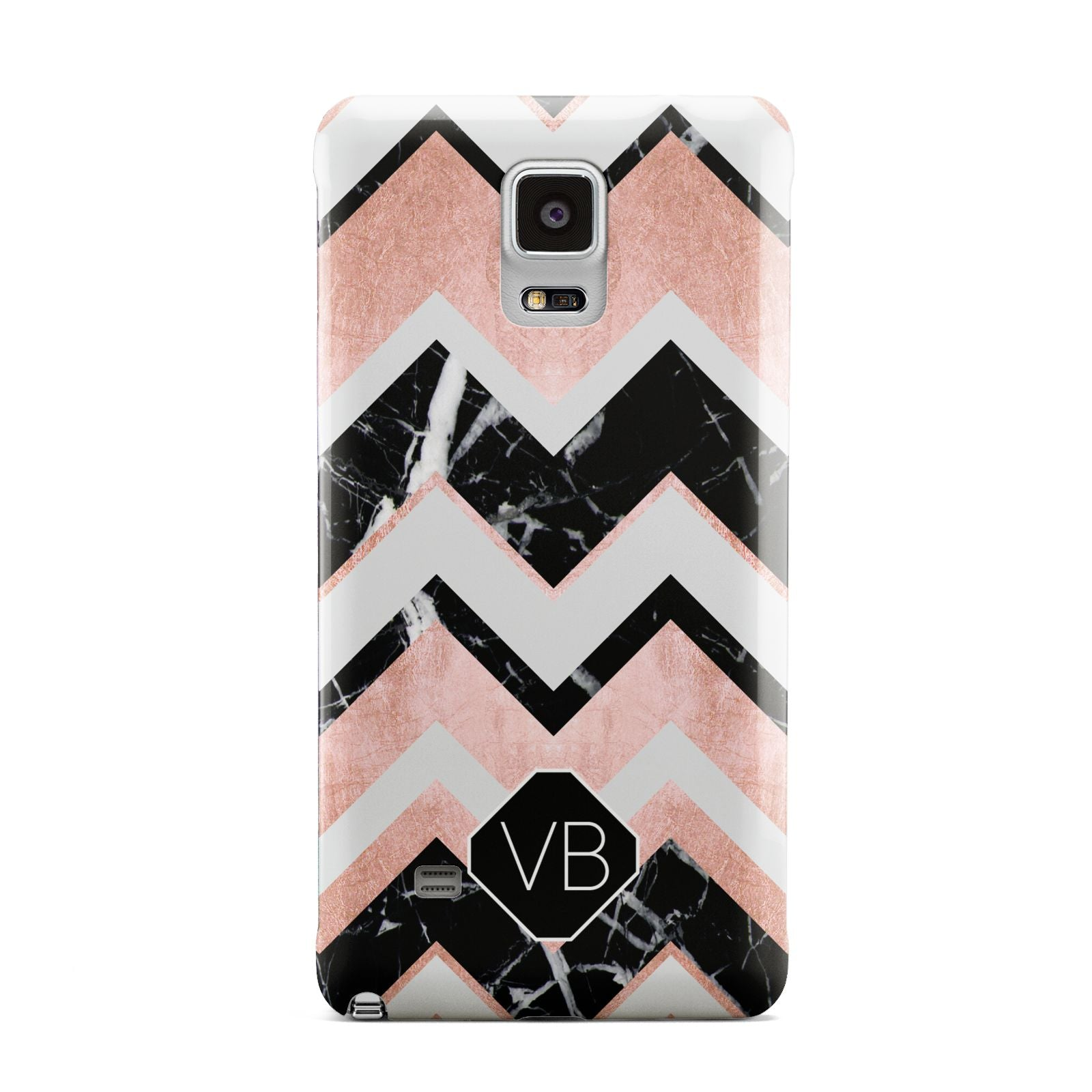 Personalised Chevron Marbled Initials Samsung Galaxy Note 4 Case