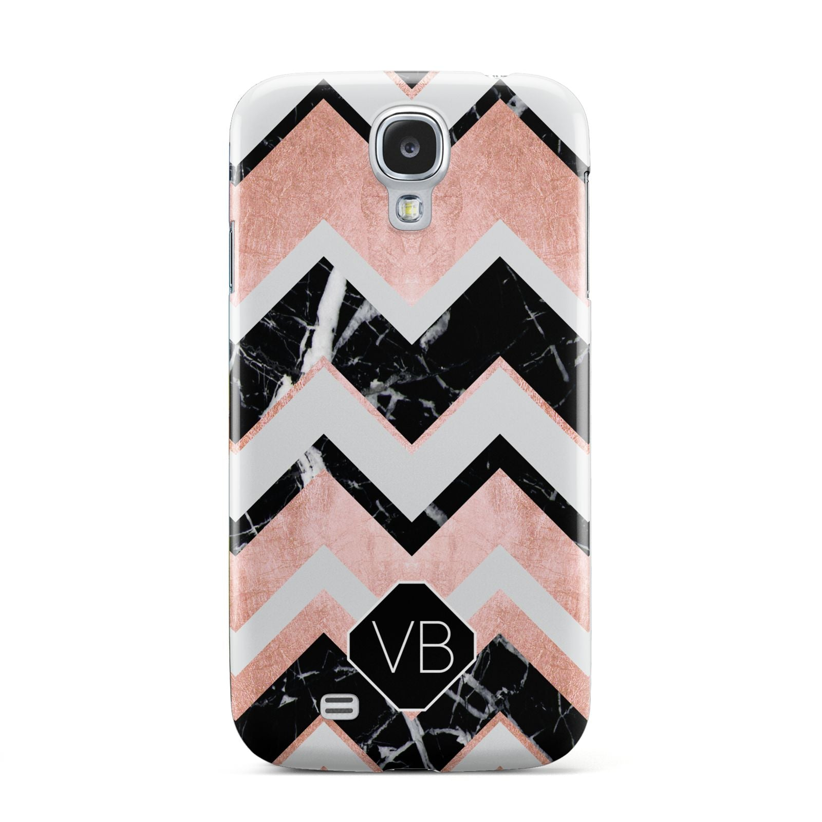 Personalised Chevron Marbled Initials Samsung Galaxy S4 Case