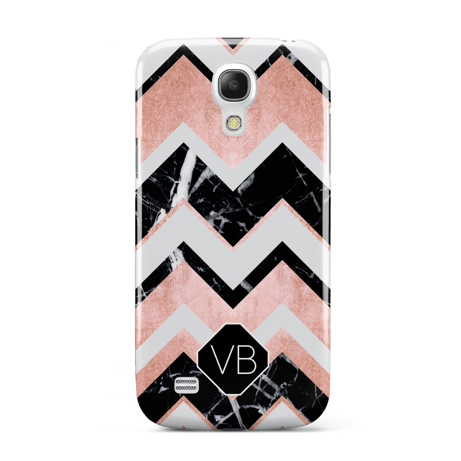 Personalised Chevron Marbled Initials Samsung Galaxy S4 Mini Case