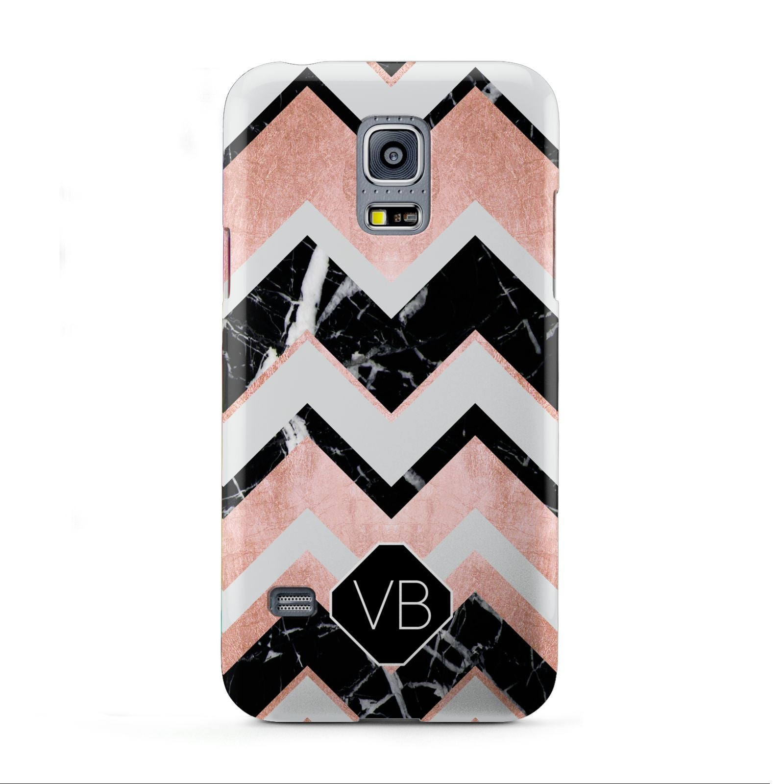 Personalised Chevron Marbled Initials Samsung Galaxy S5 Mini Case