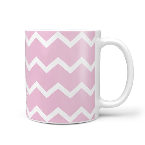 Personalised Chevron Pink Mug