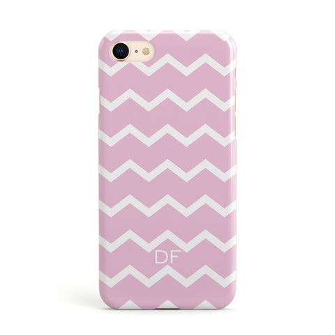 Personalised Chevron Pink Apple iPhone Case