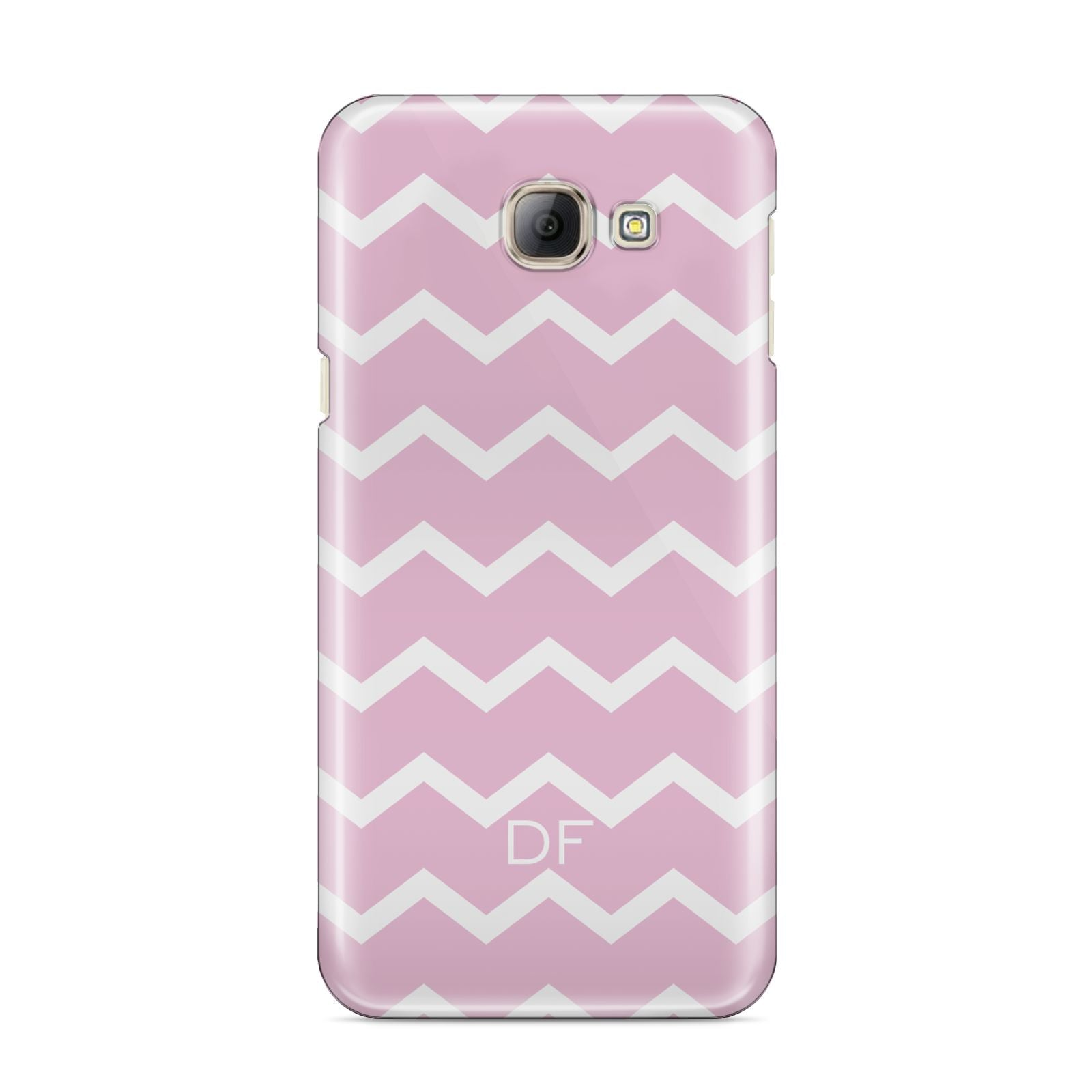 Personalised Chevron Pink Samsung Galaxy A8 2016 Case