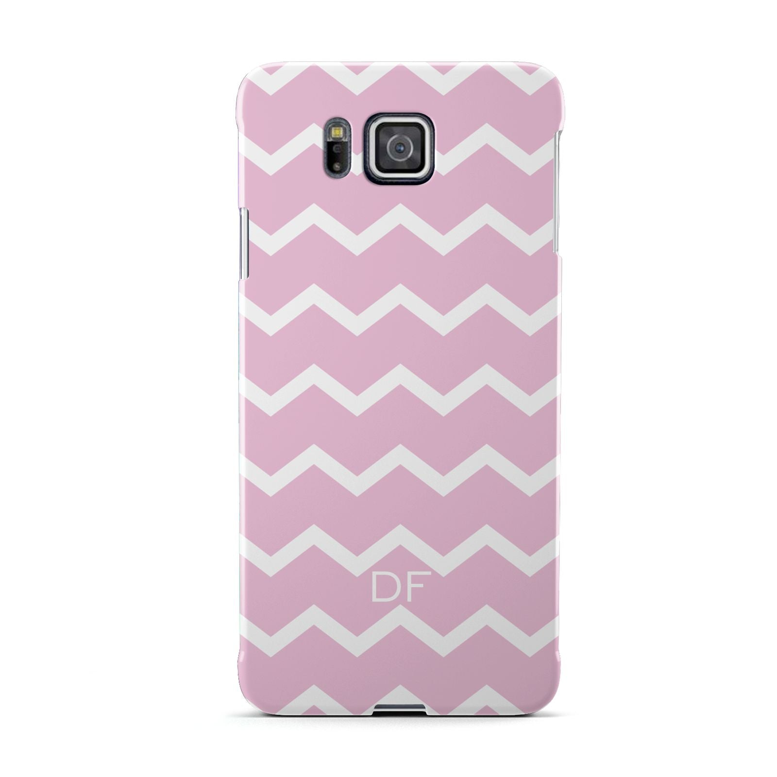 Personalised Chevron Pink Samsung Galaxy Alpha Case