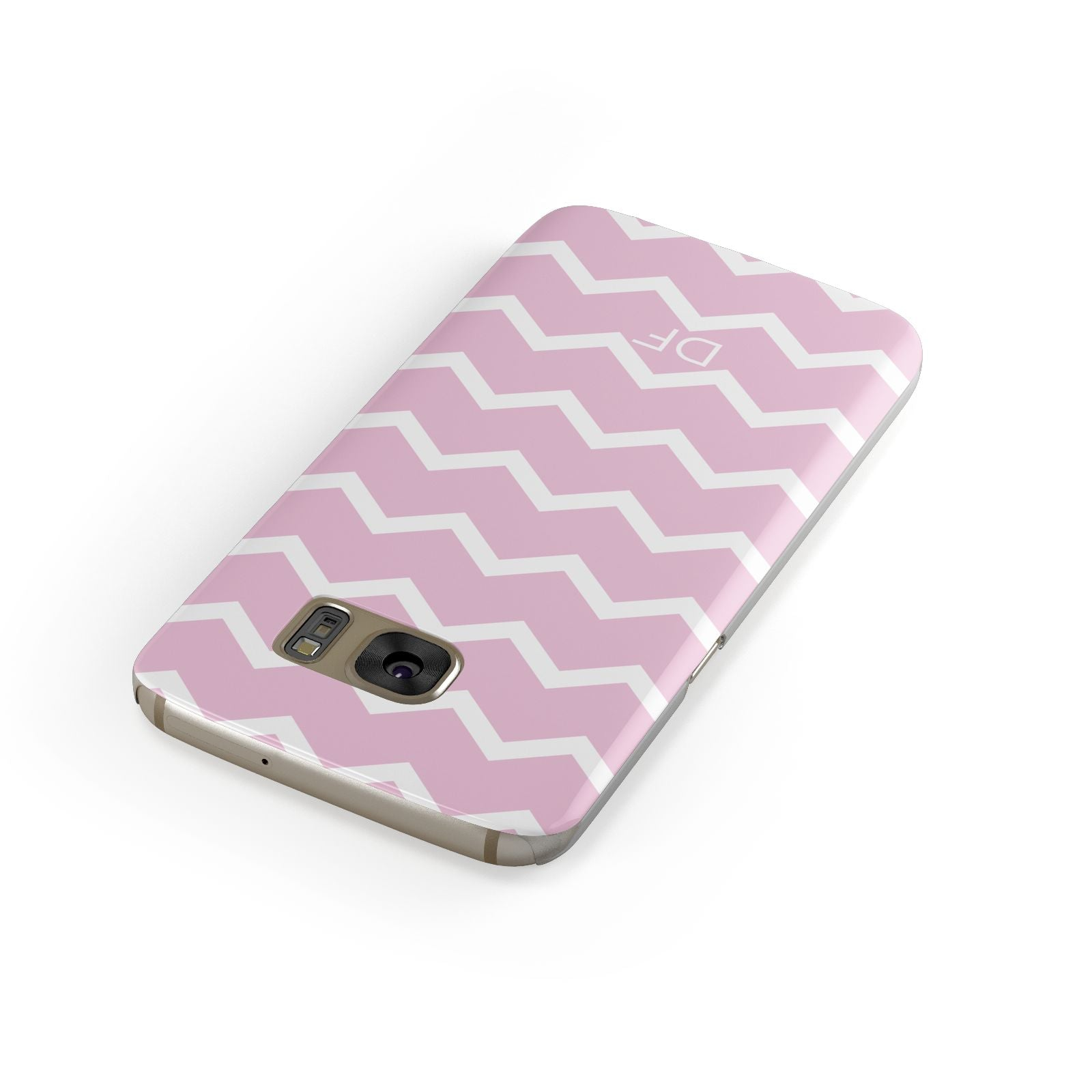 Personalised Chevron Pink Samsung Galaxy Case Front Close Up