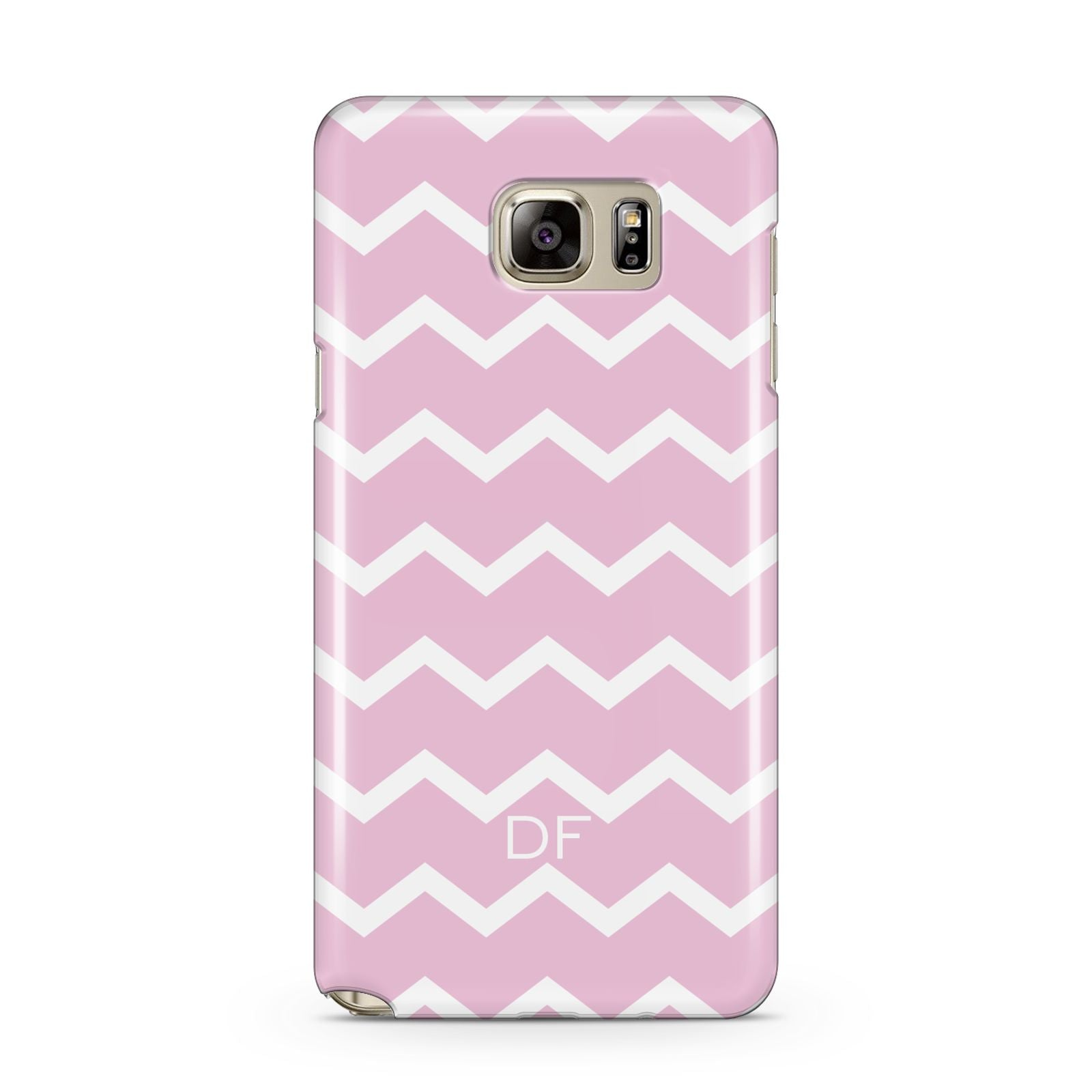 Personalised Chevron Pink Samsung Galaxy Note 5 Case