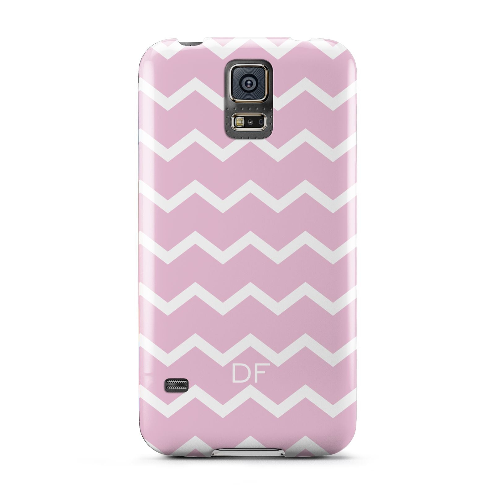 Personalised Chevron Pink Samsung Galaxy S5 Case