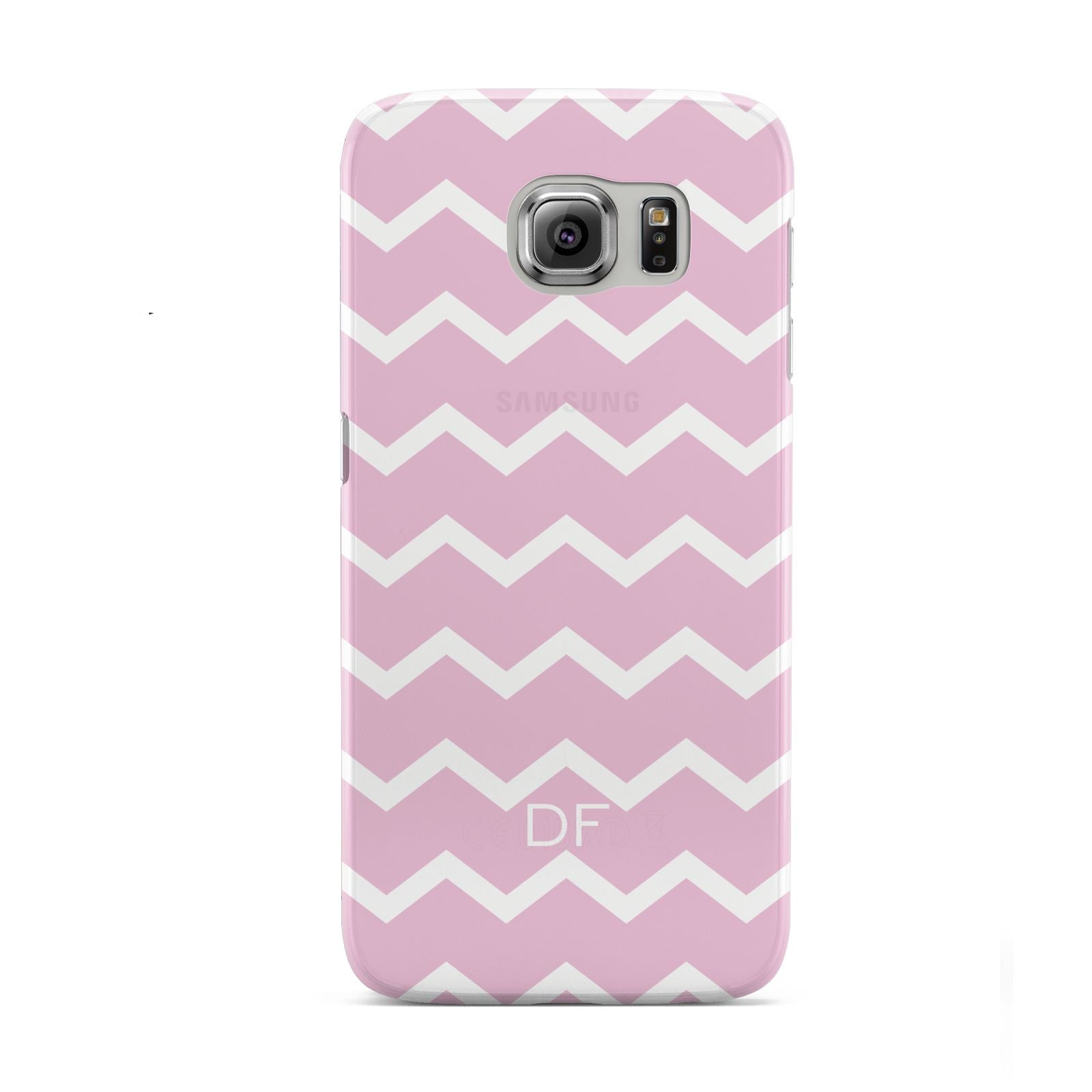 Personalised Chevron Pink Samsung Galaxy S6 Case