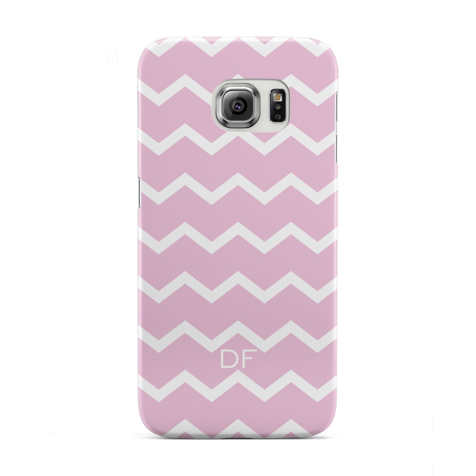 Personalised Chevron Pink Samsung Galaxy S6 Edge Case