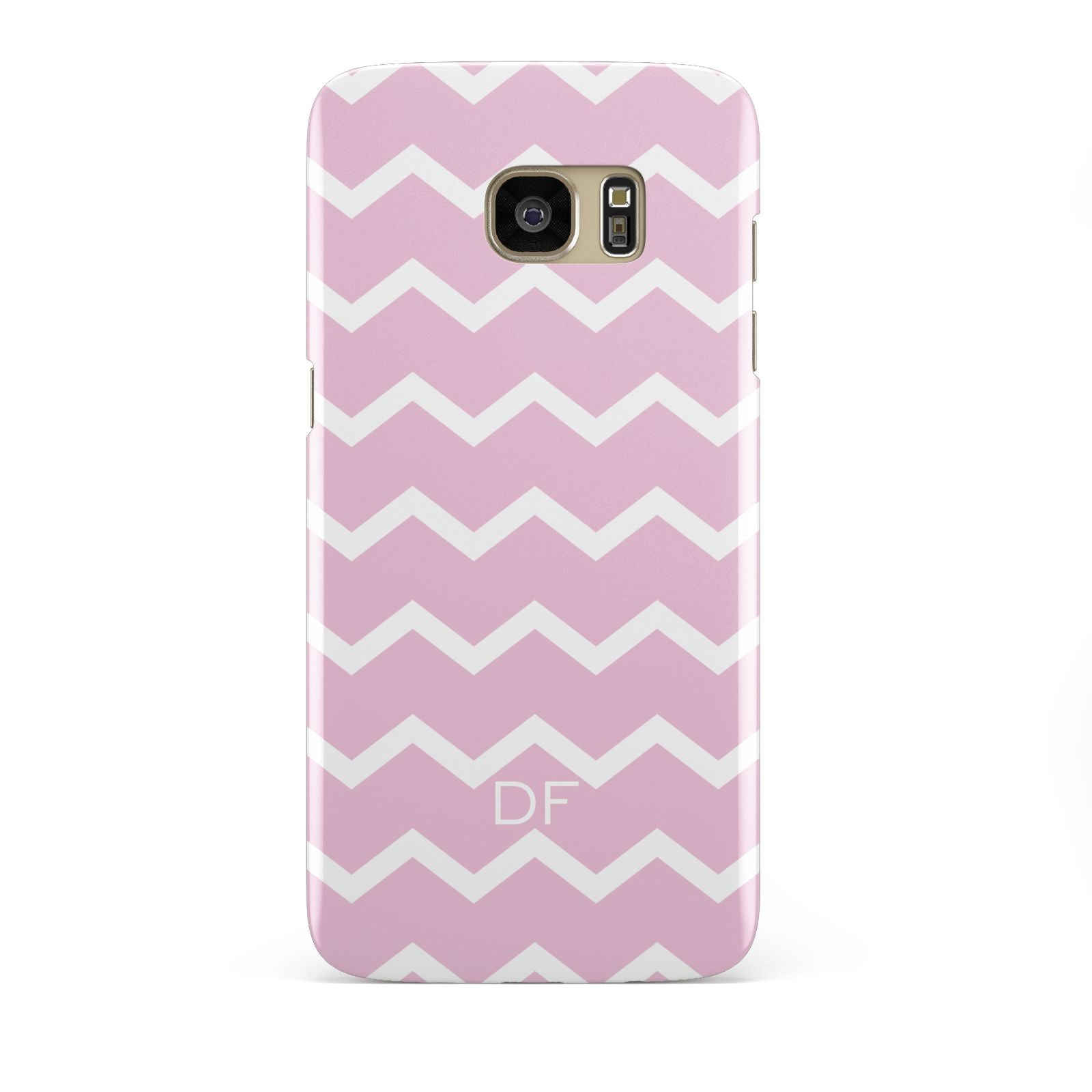 Personalised Chevron Pink Samsung Galaxy S7 Edge Case