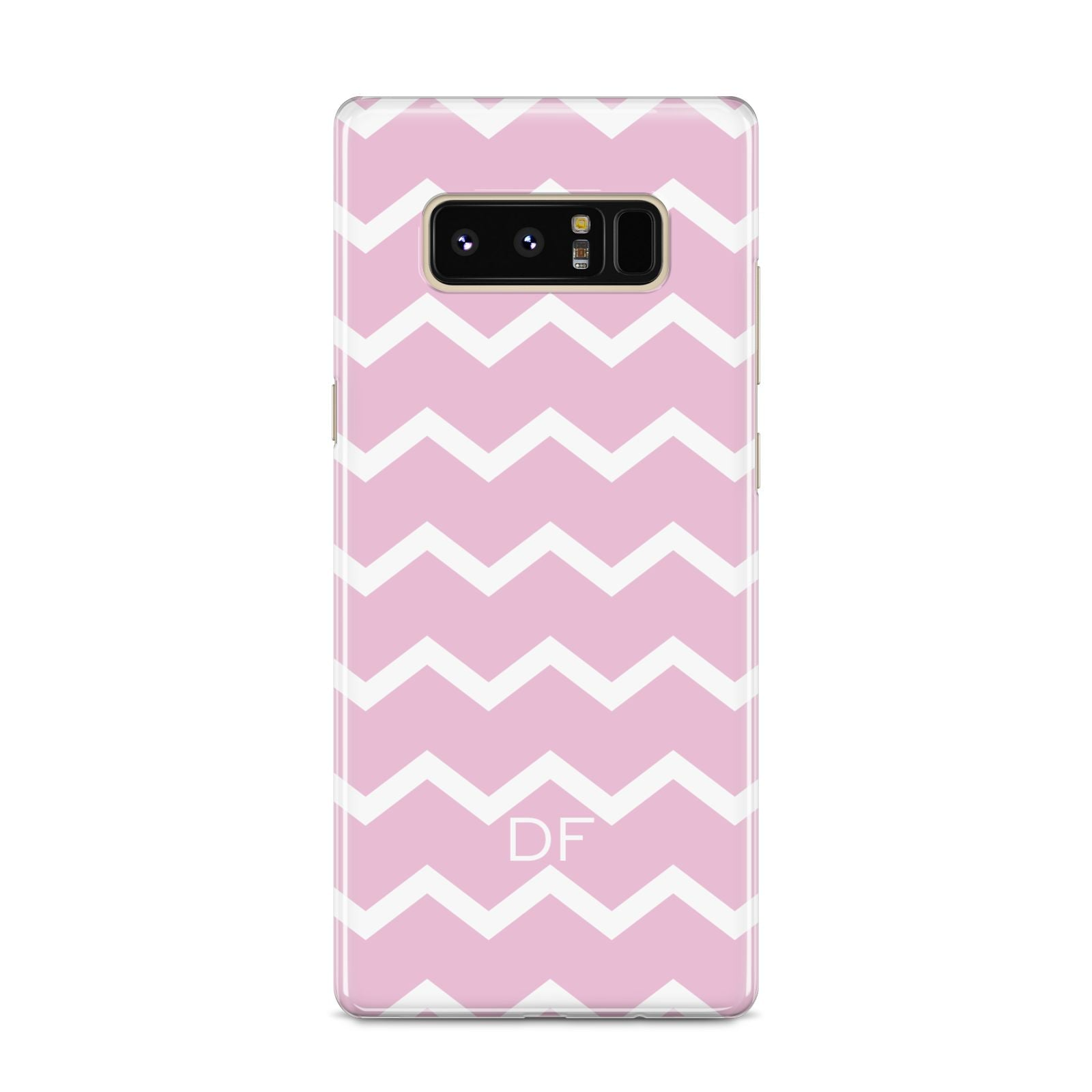 Personalised Chevron Pink Samsung Galaxy S8 Case